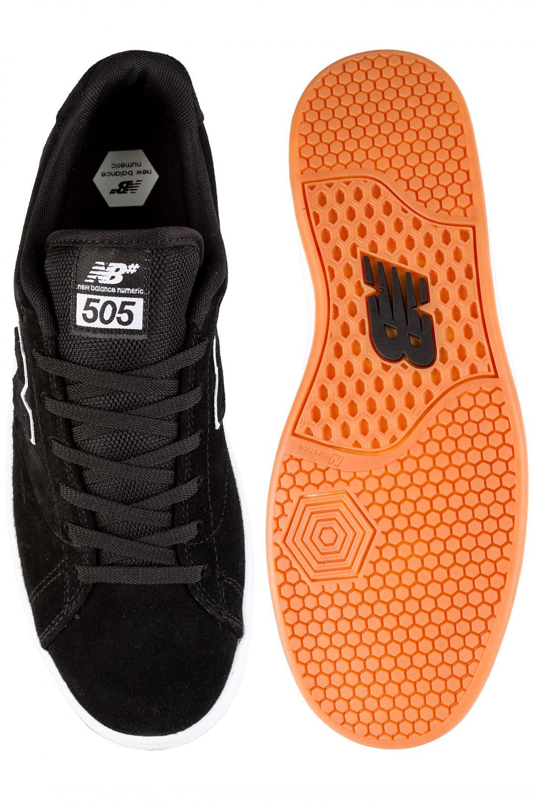 Uomo New Balance Numeric 505 black white   Sneakers low top