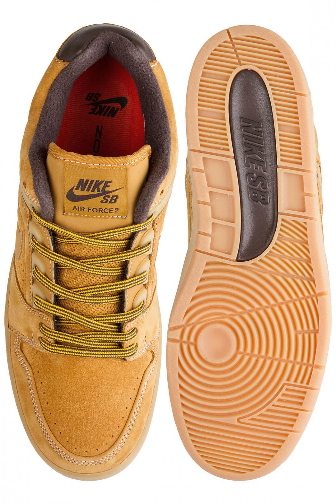Uomo Nike SB Air Force II Low Premium bronze | Sneakers low top