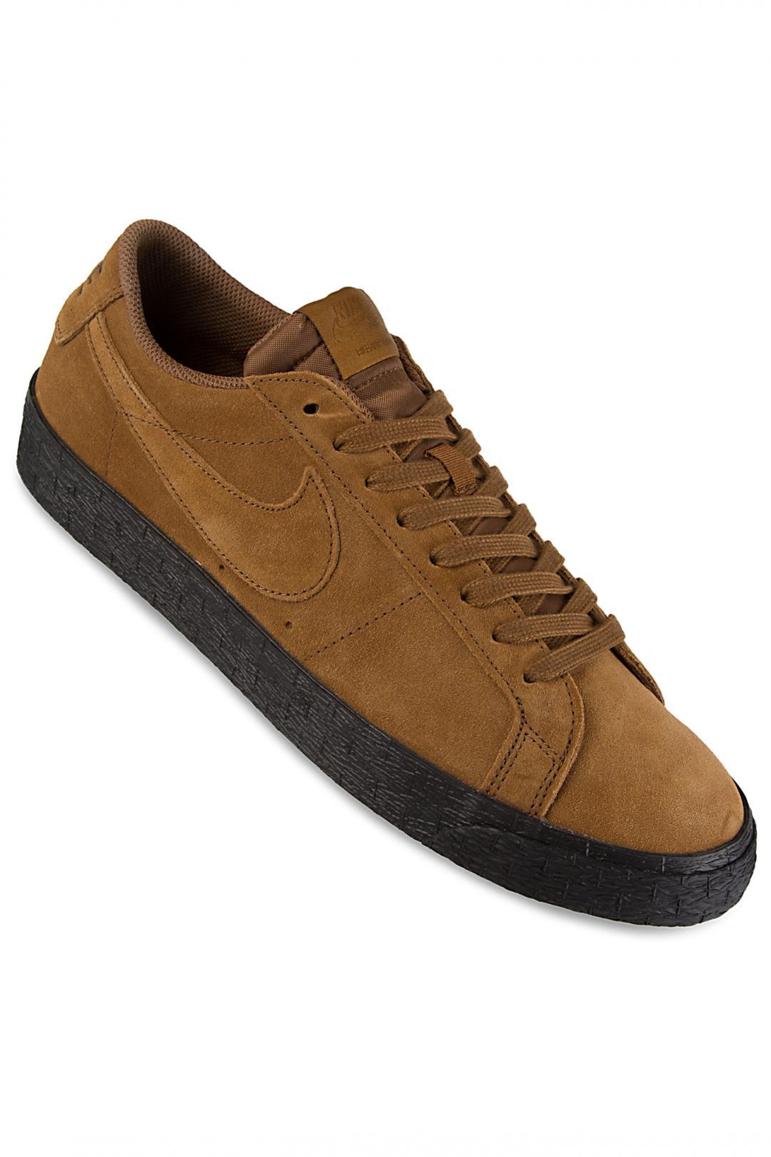 Uomo Nike SB Zoom Blazer Low light british tan black | Scarpe da skate