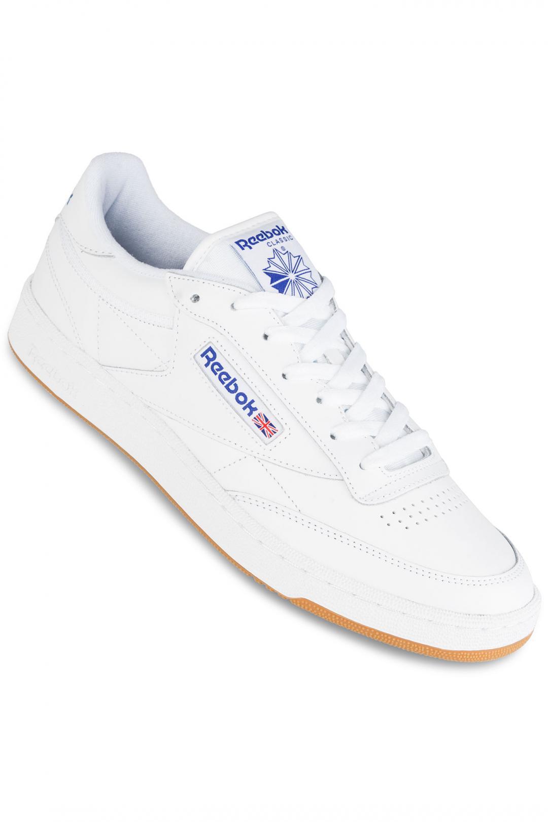 Uomo Reebok Club C 85 white royal gum   Sneaker