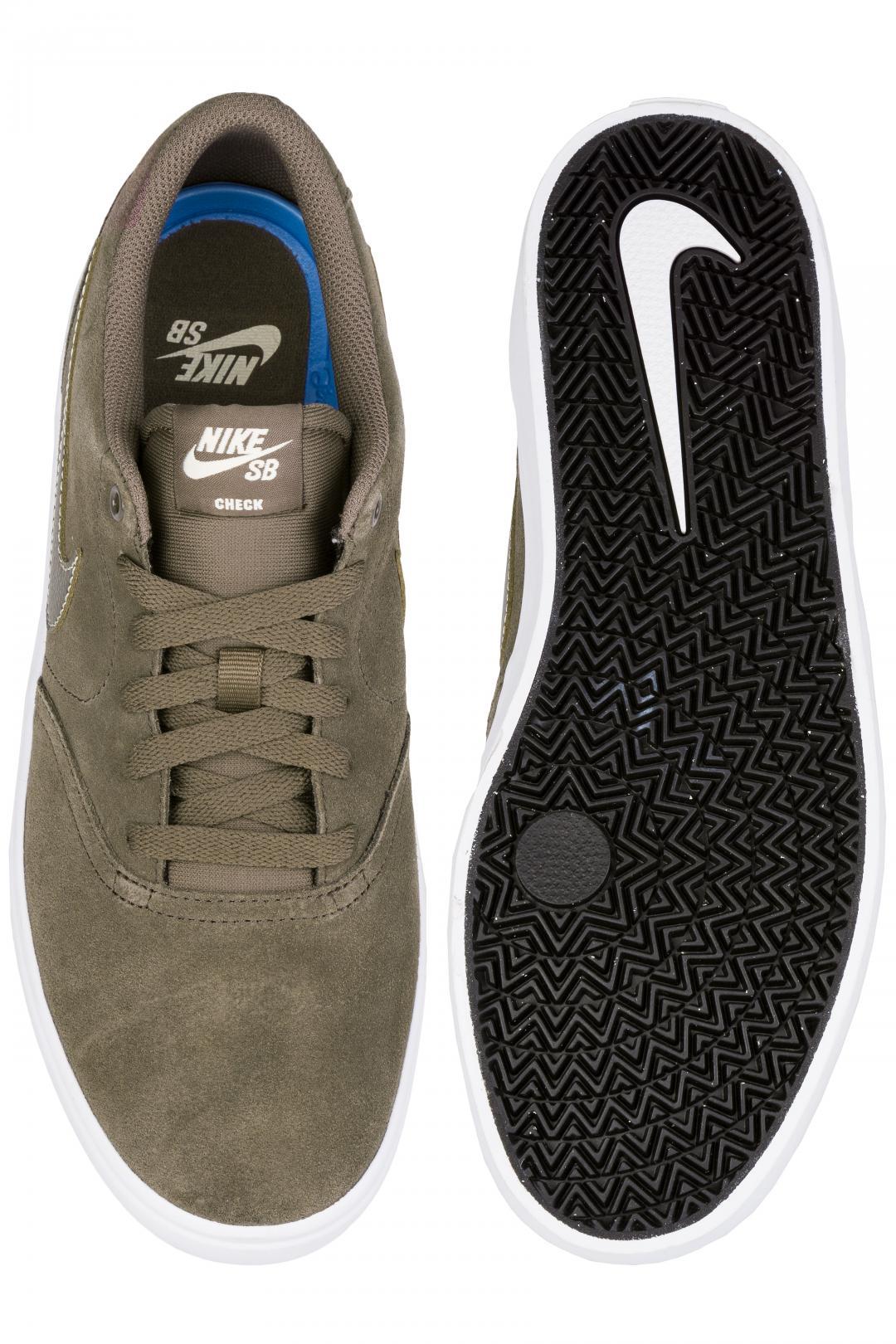 Uomo/Donna Nike SB Check Solarsoft ridgerock white fossil | Scarpe da skate