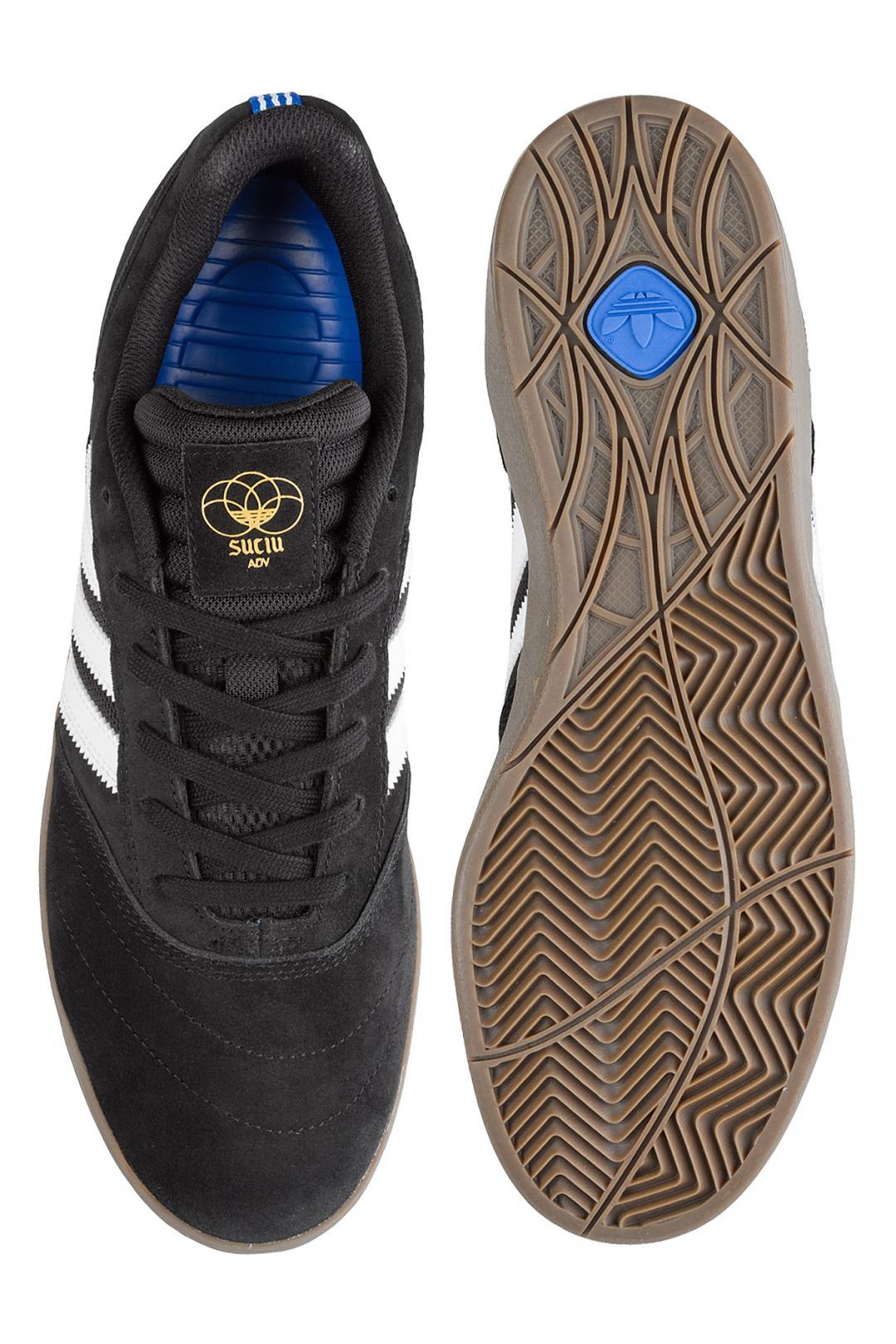 Uomo adidas Skateboarding Suciu ADV II core black white gum   Scarpe da skate