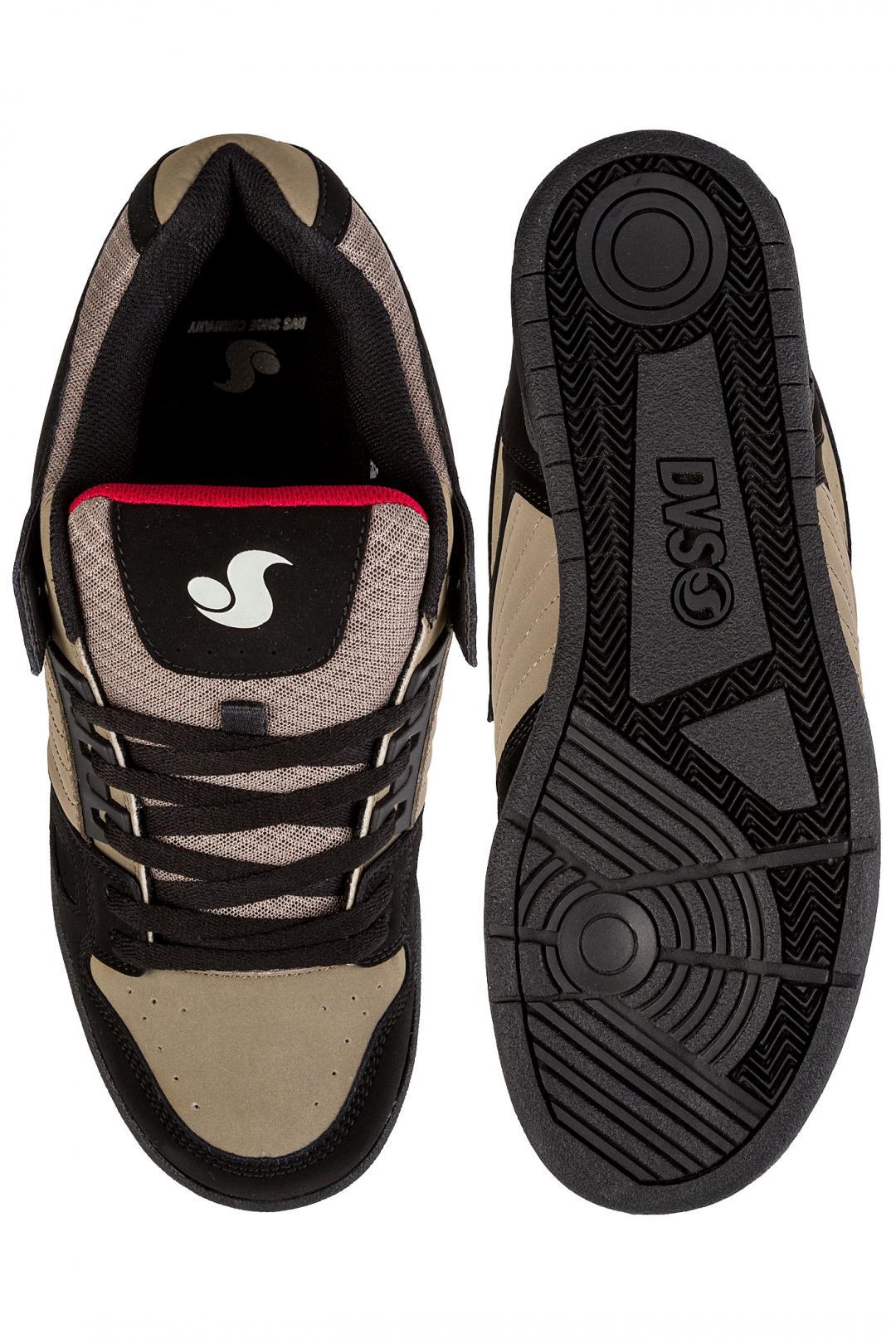 Uomo DVS Celsius Nubuck black taupe   Sneakers low top