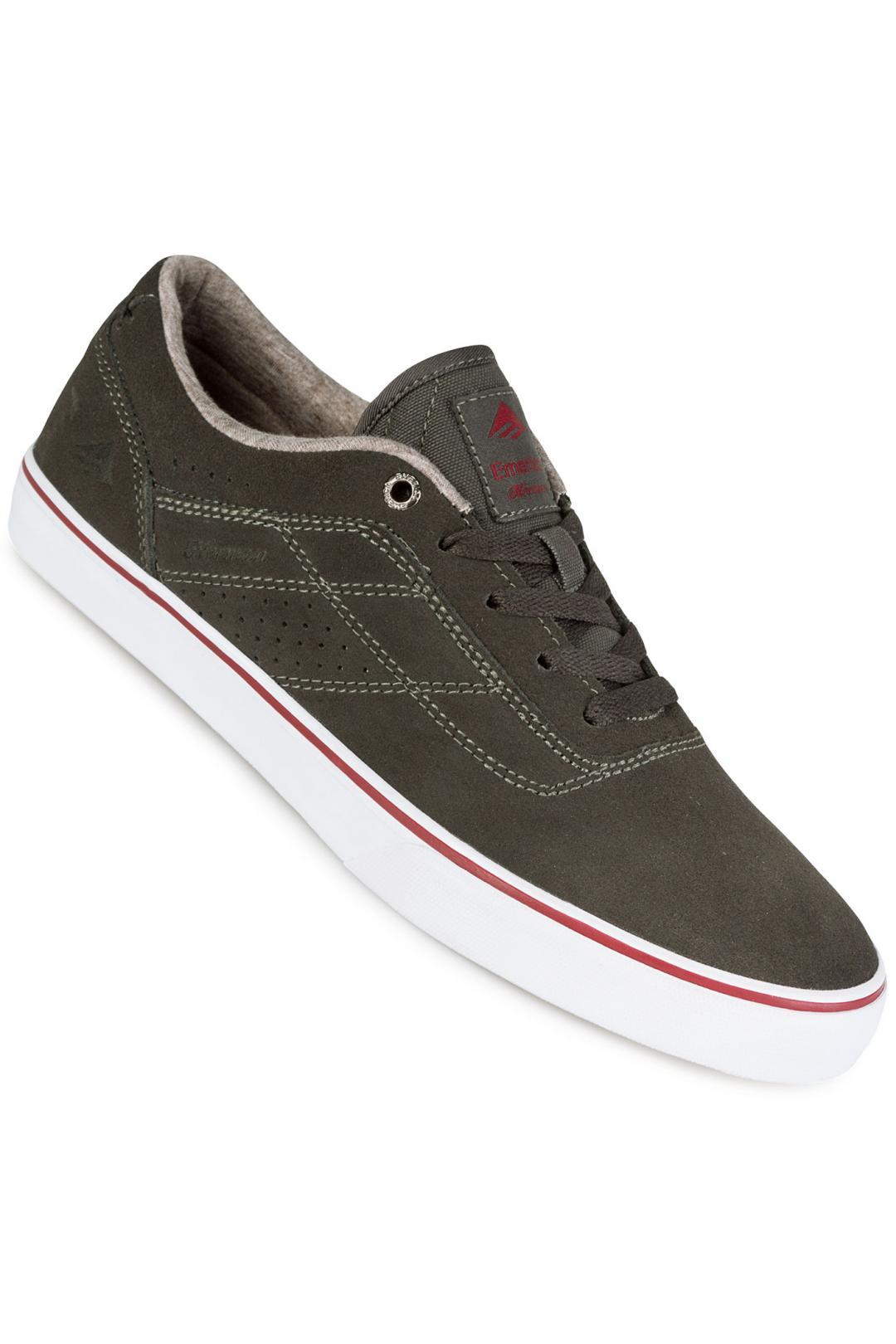 Uomo Emerica The Herman G6 Vulc dark grey red white | Sneakers low top