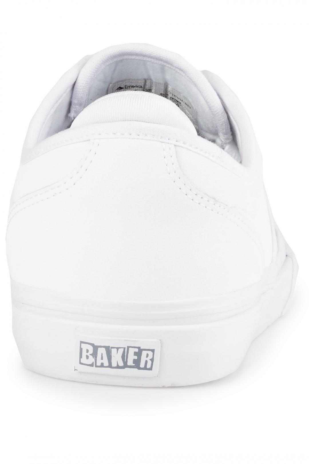 Uomo Emerica x Baker Wino G6 white white | Sneakers low top