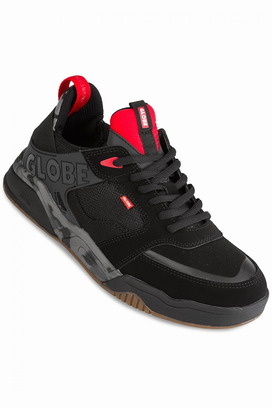Uomo Globe Tilt Evo black red camo | Sneaker