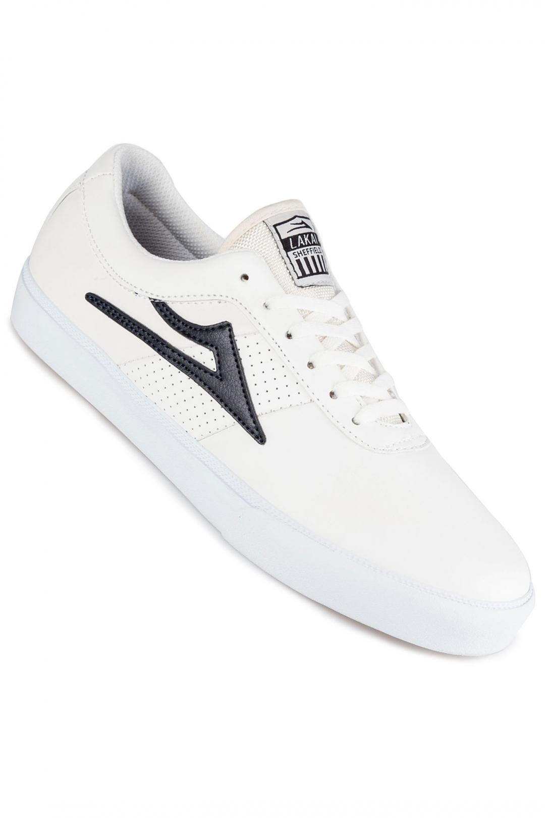 Uomo Lakai Sheffield Leather white navy | Scarpe da skate