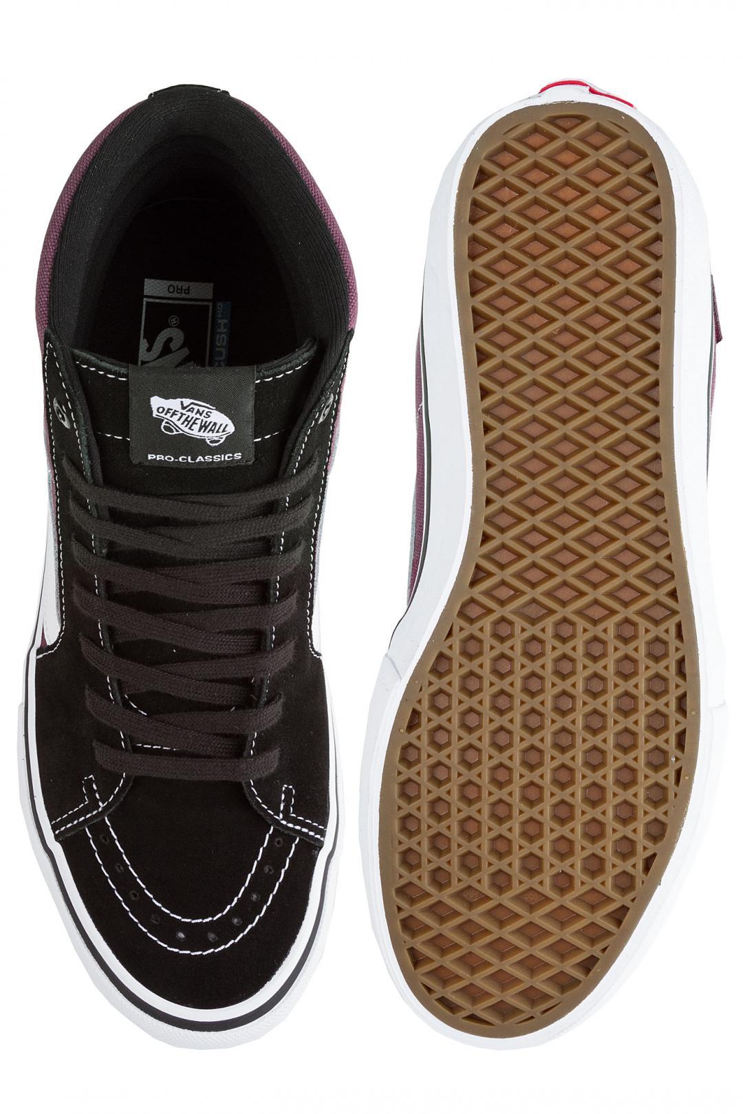 Uomo Vans Sk8-Hi Pro black raisin | Sneaker