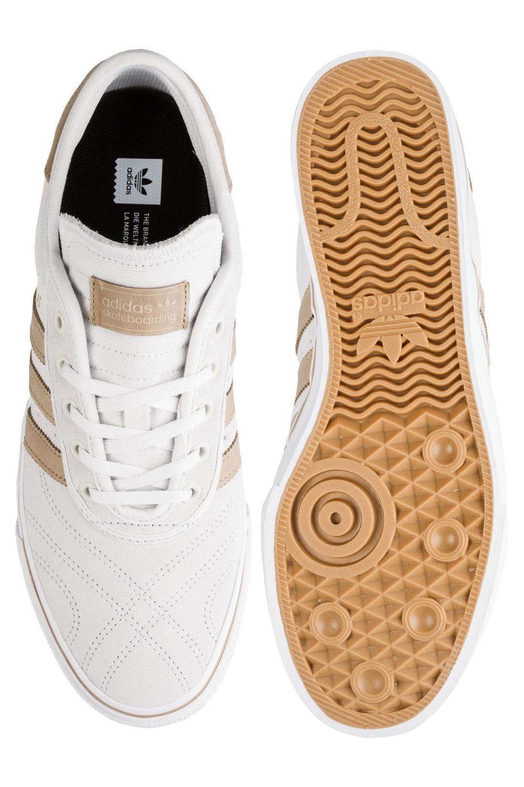 Uomo adidas Skateboarding Adi Ease Premiere white hemp white   Scarpe da skate