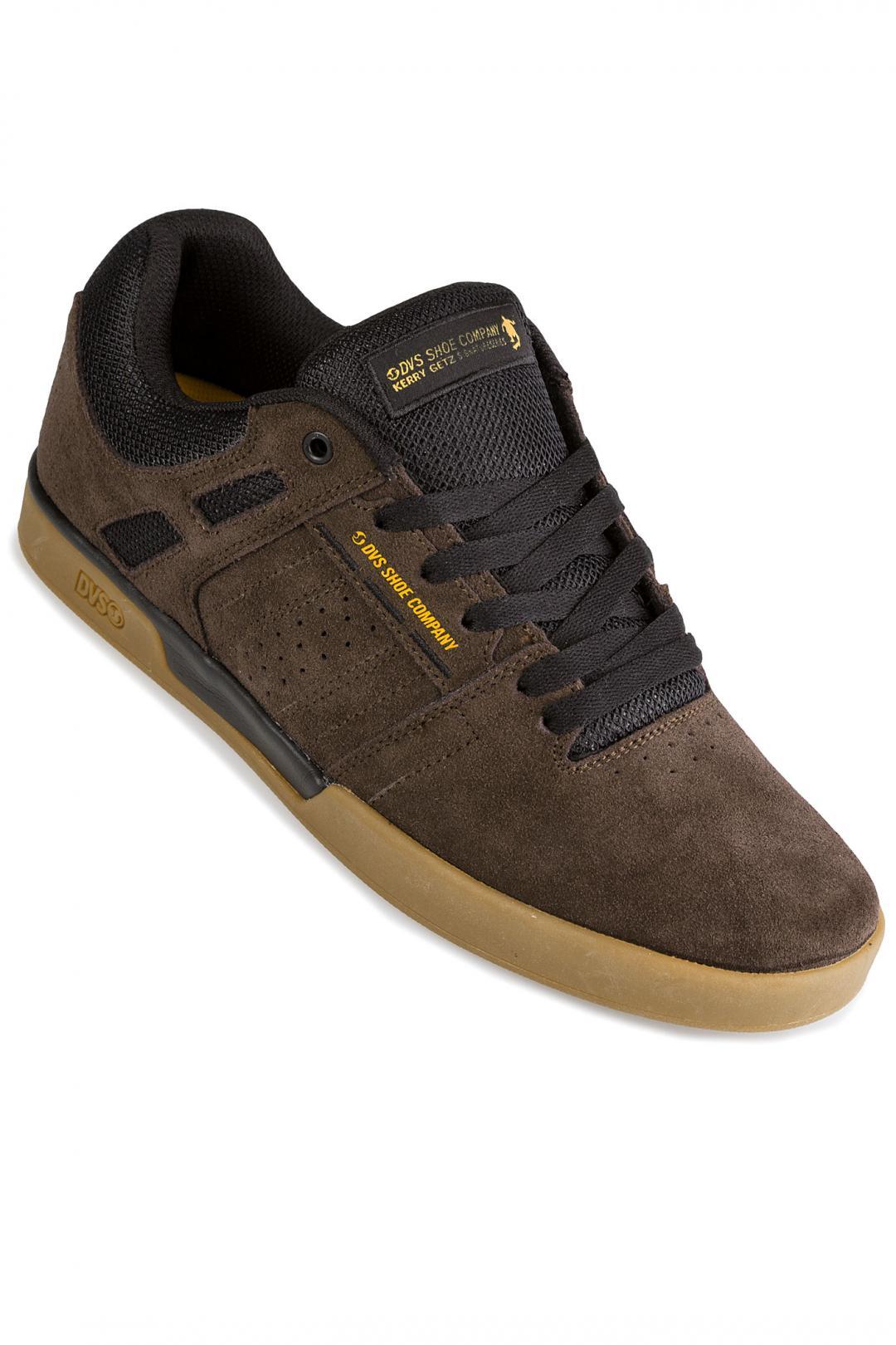 Uomo DVS Drift+ Suede chocolate brown black   Sneaker