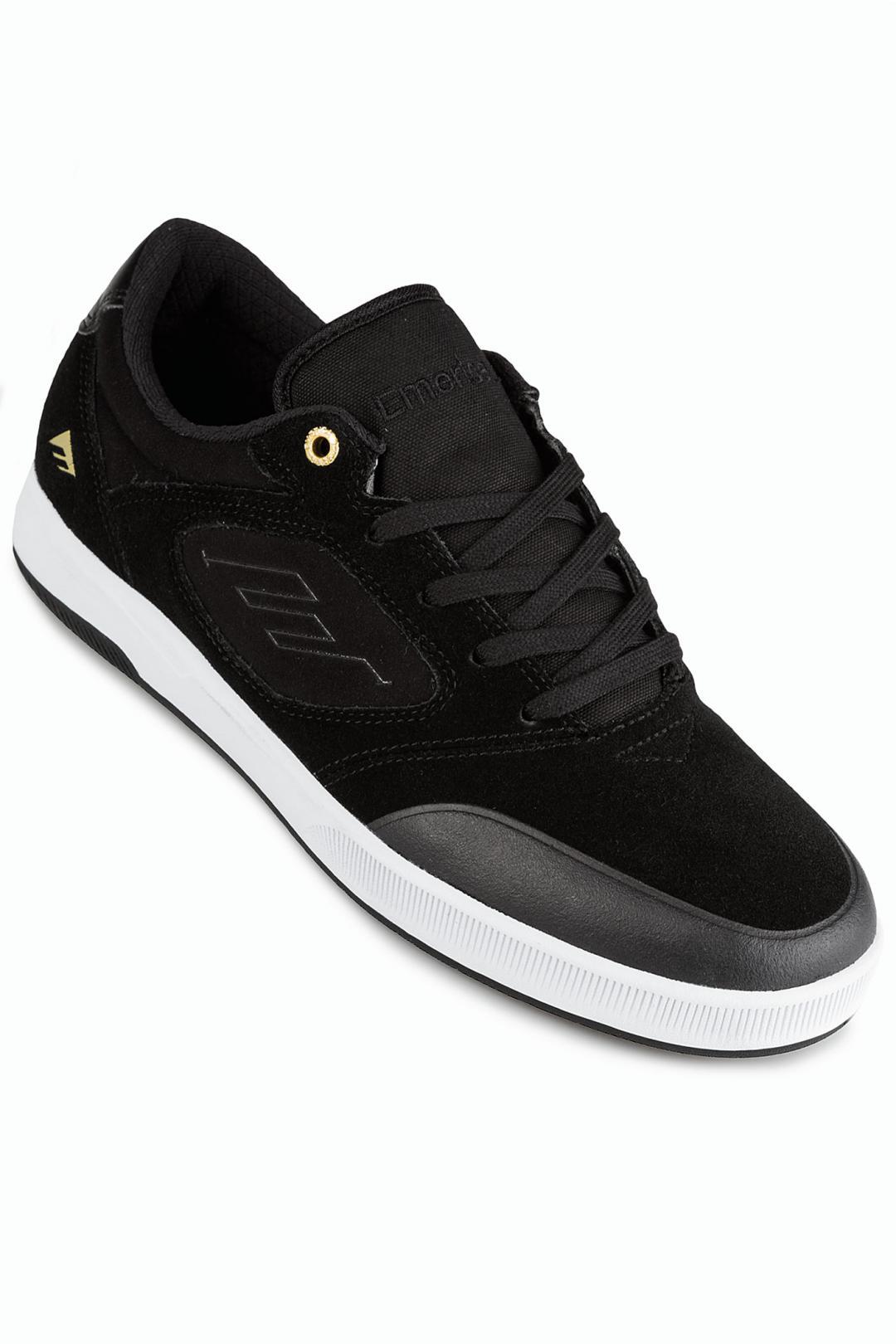 Uomo Emerica Dissent black white gold | Sneaker