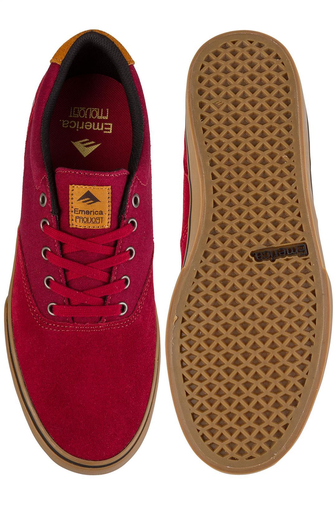 Uomo Emerica The Provost Slim Vulc burgundy gum | Sneaker