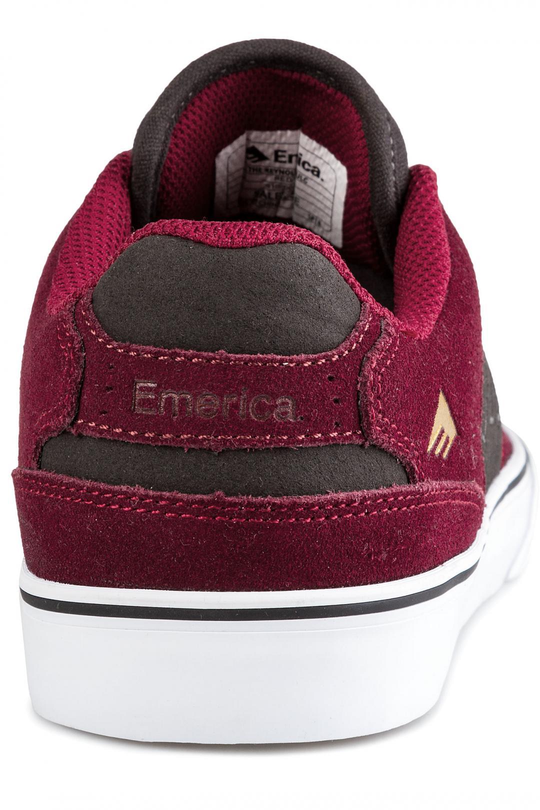 Uomo Emerica The Reynolds Low Vulc red grey | Sneaker