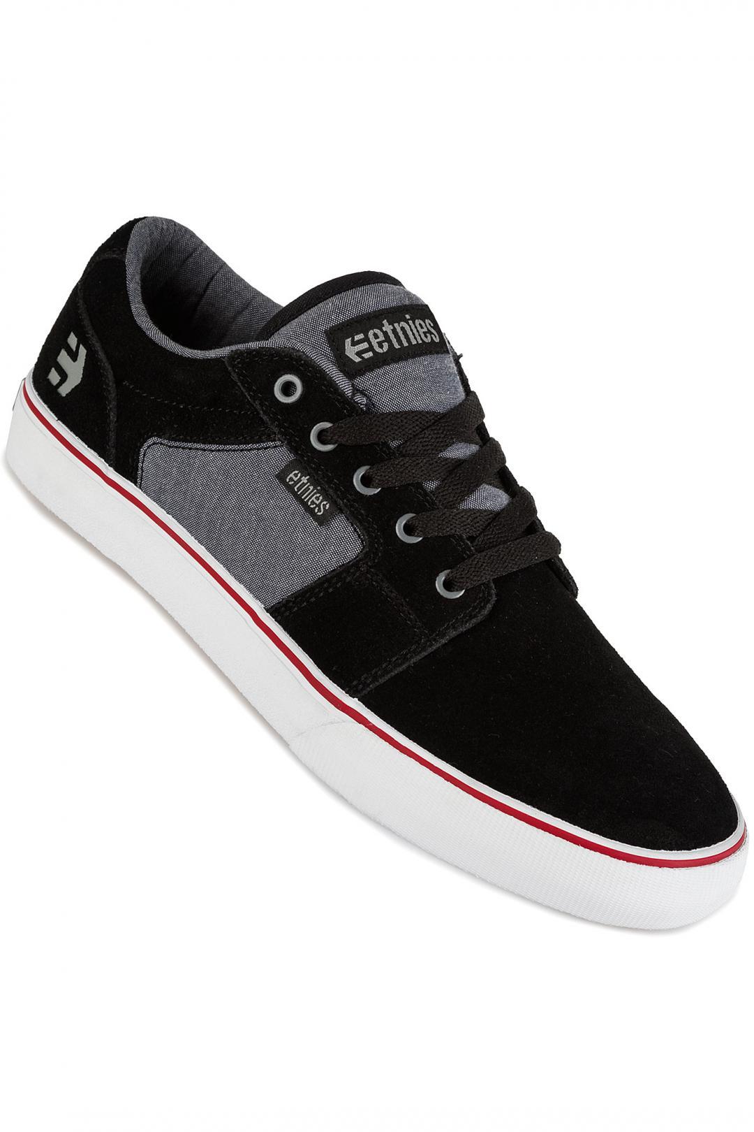 Uomo Etnies Barge LS black charcoal silver | Sneakers low top
