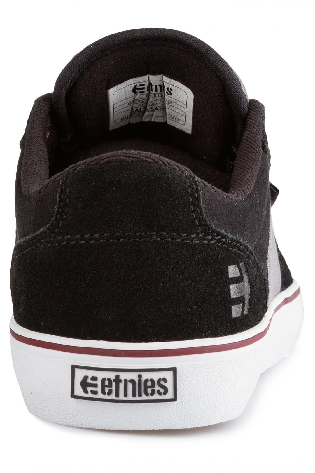 Uomo Etnies Barge LS black dark grey silver | Sneaker