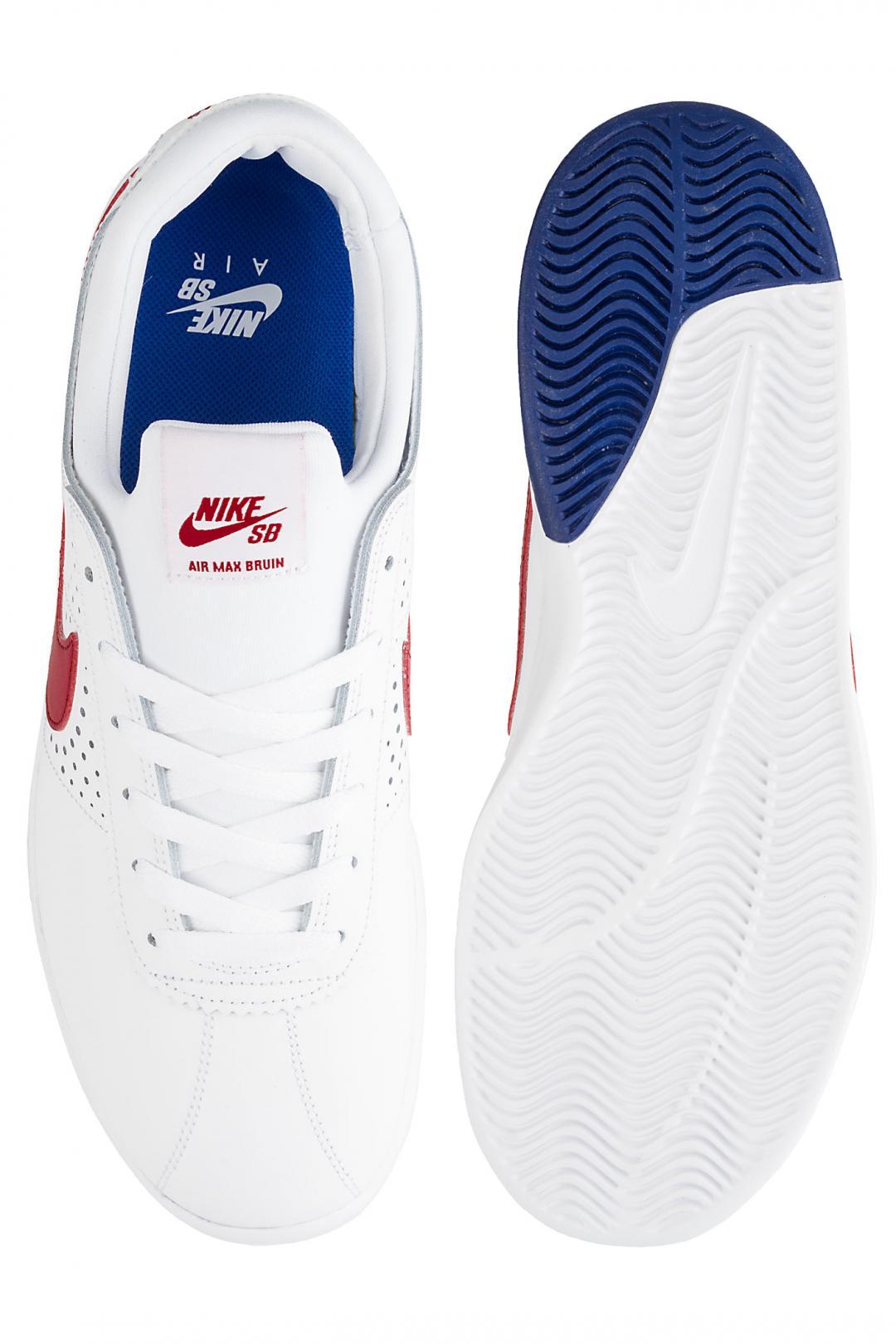 Uomo Nike SB Air Max Bruin Vapor white gym red | Sneakers low top