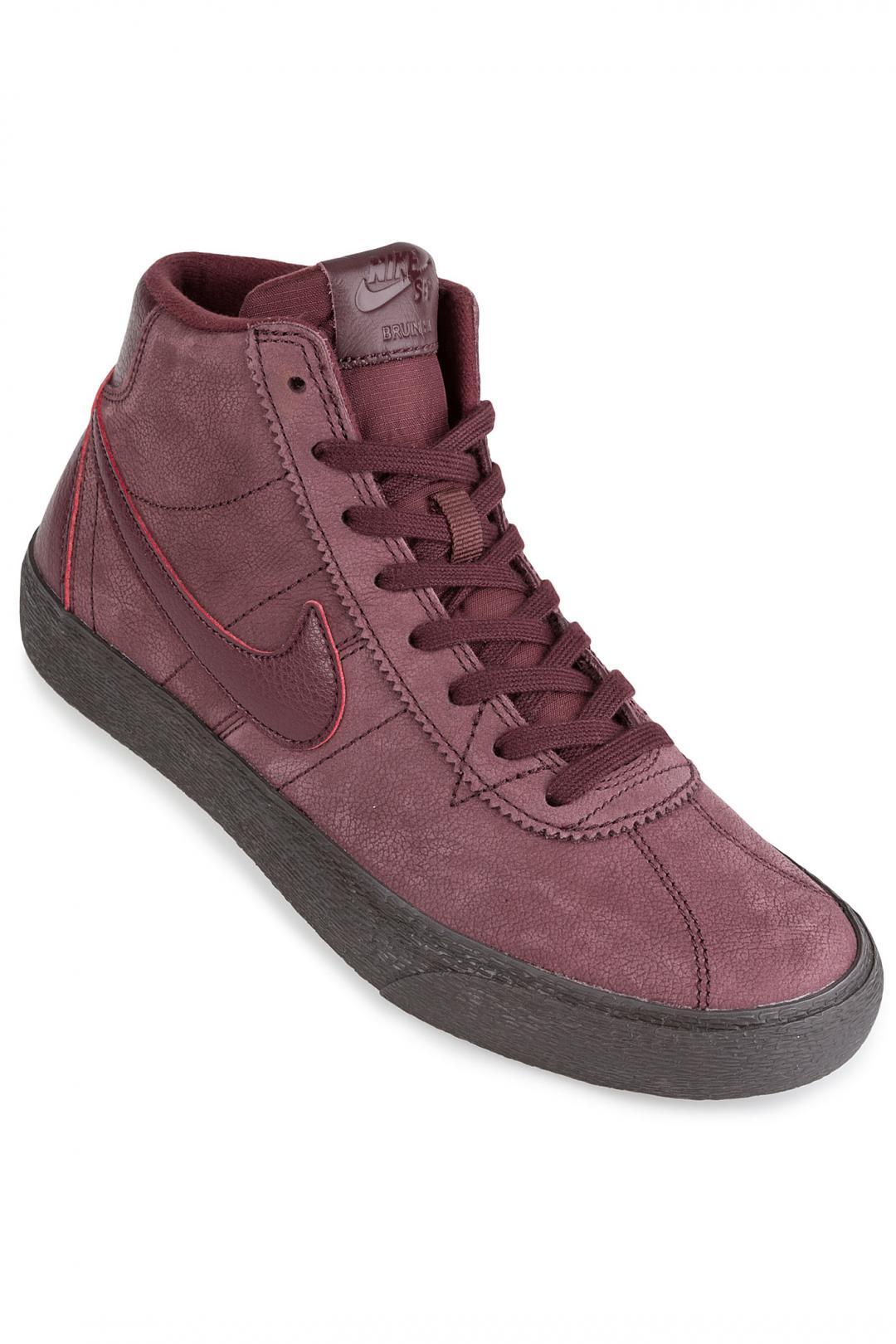 Donna Nike SB Bruin Hi burgundy crush | Scarpe da skate