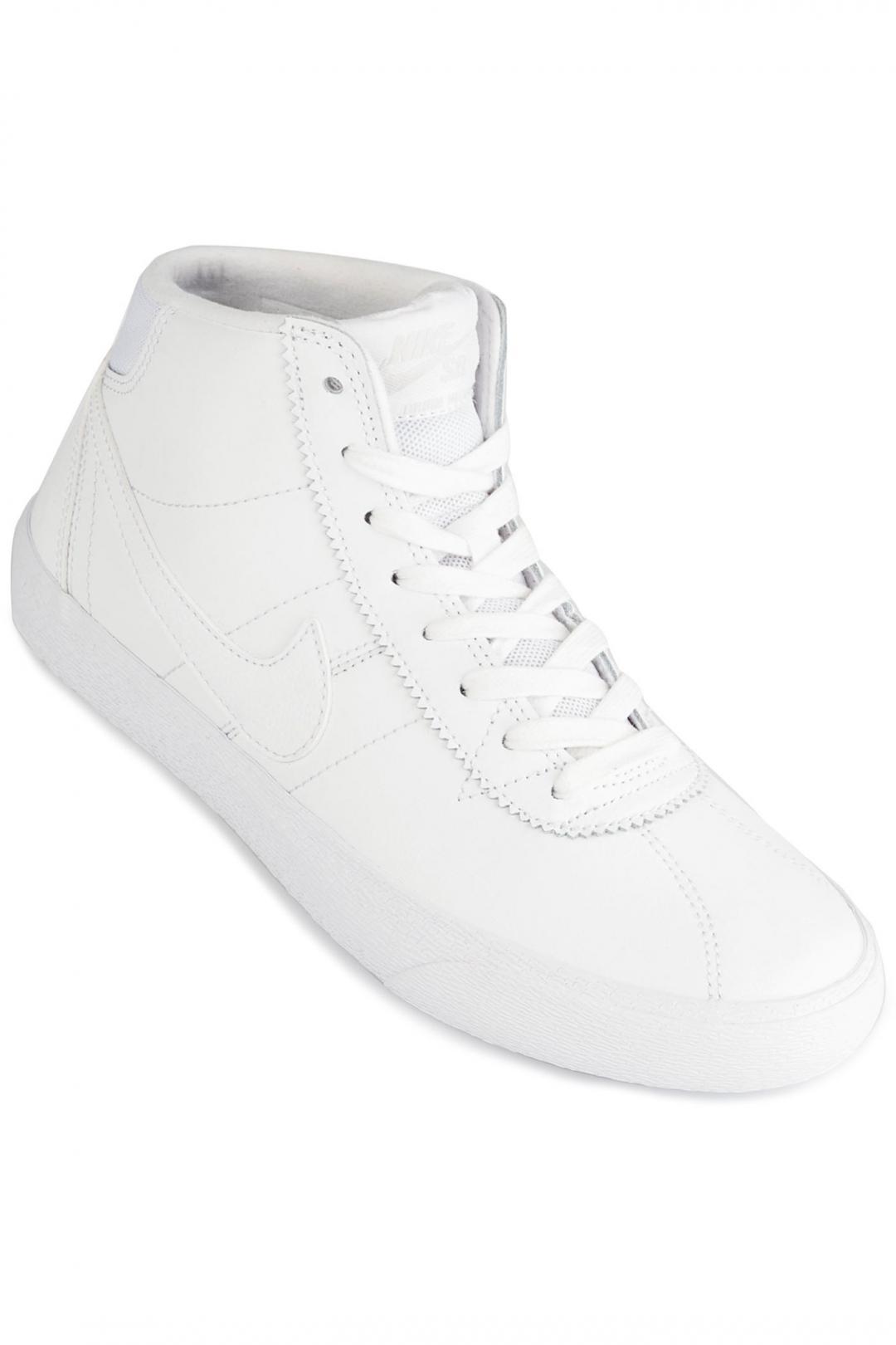 Donna Nike SB Bruin Hi white vast grey   Scarpe da skate