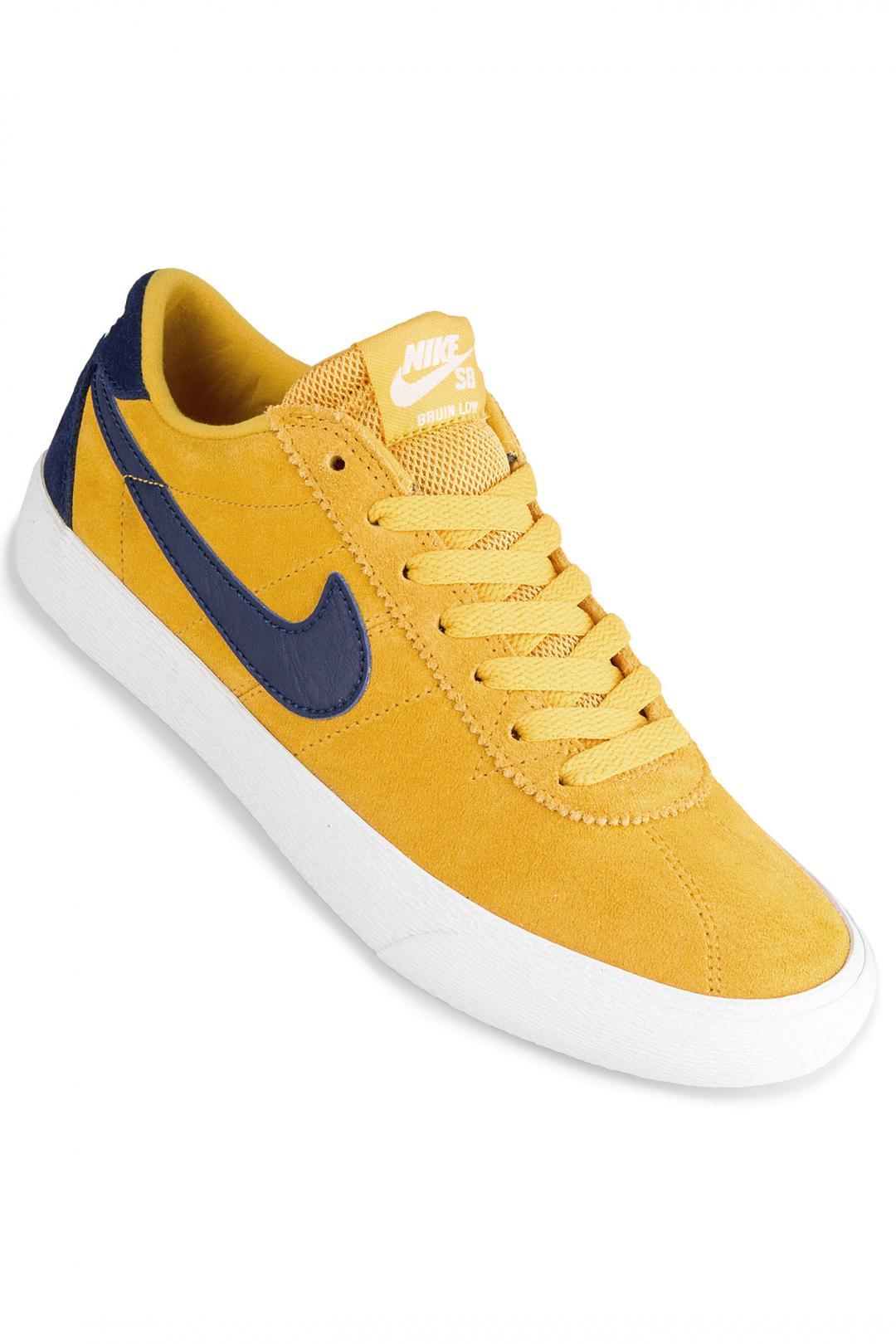 Donna Nike SB Bruin Lo yellow ochre blue void   Sneaker