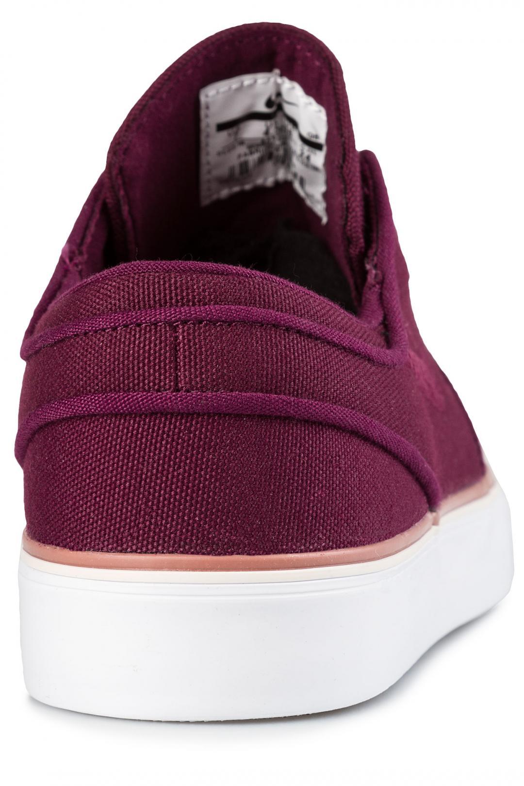 Donna Nike SB Zoom Stefan Janoski Canvas bordeaux white | Sneaker