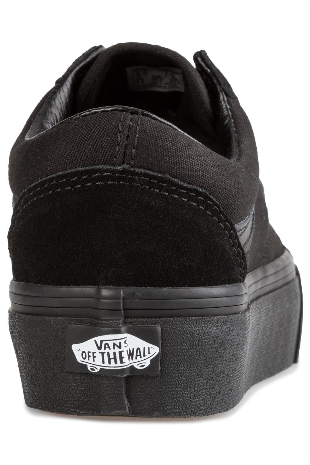 Donna Vans Old Skool Platform black black | Scarpe da skate