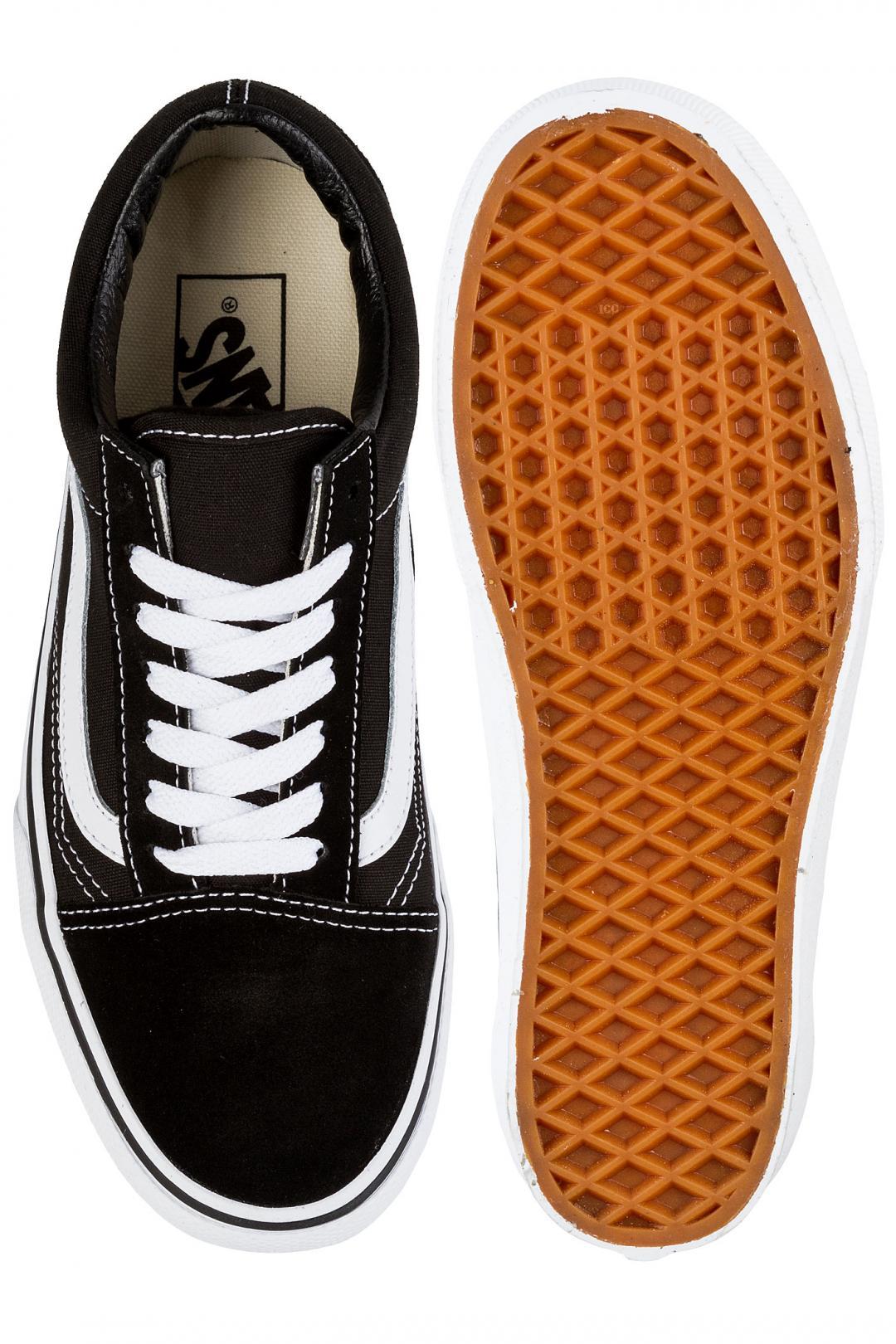 Donna Vans Old Skool Platform black white | Sneakers low top