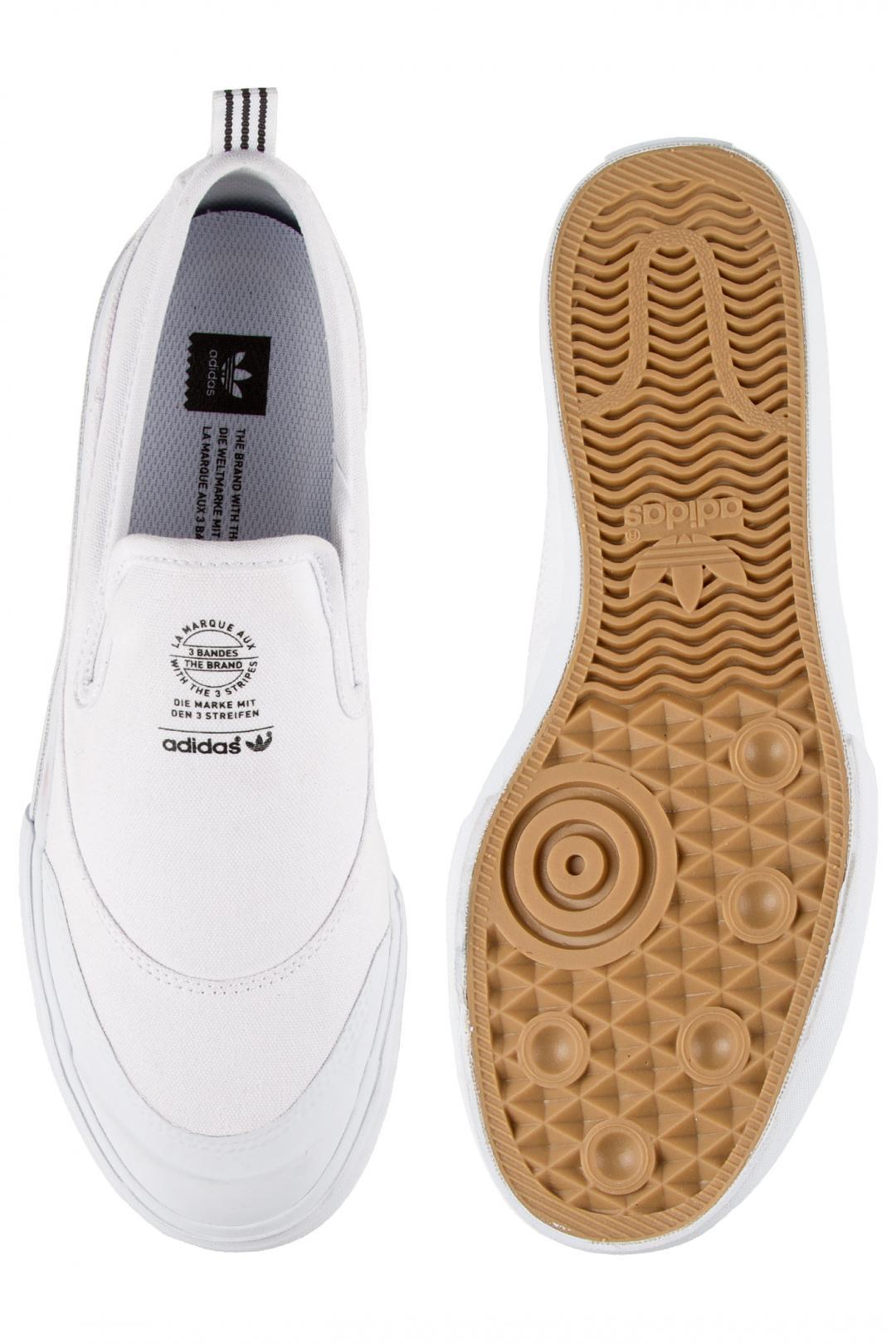 Uomo adidas Matchcourt Slip white white white   Sneaker