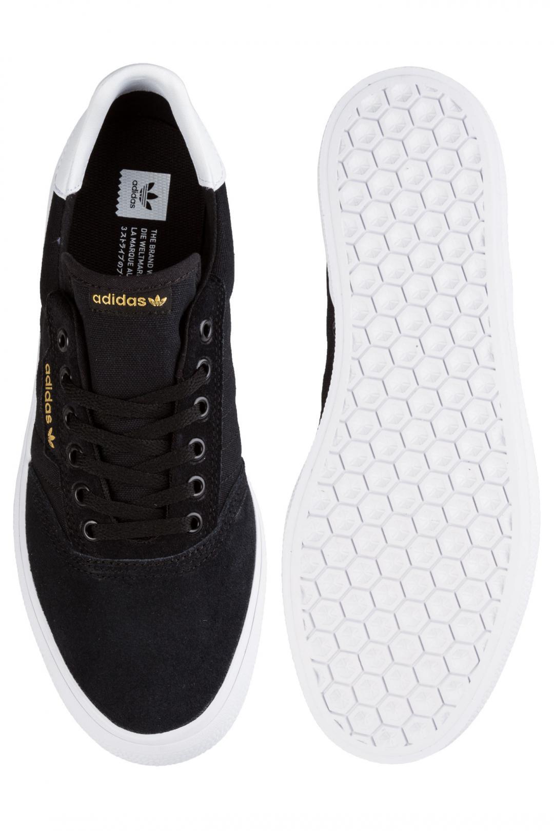 Uomo adidas Skateboarding 3MC Suede core black white   Sneakers low top