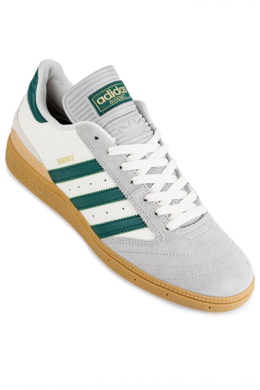 Uomo adidas Skateboarding Busenitz grey collegiate green gum   Sneakers low top