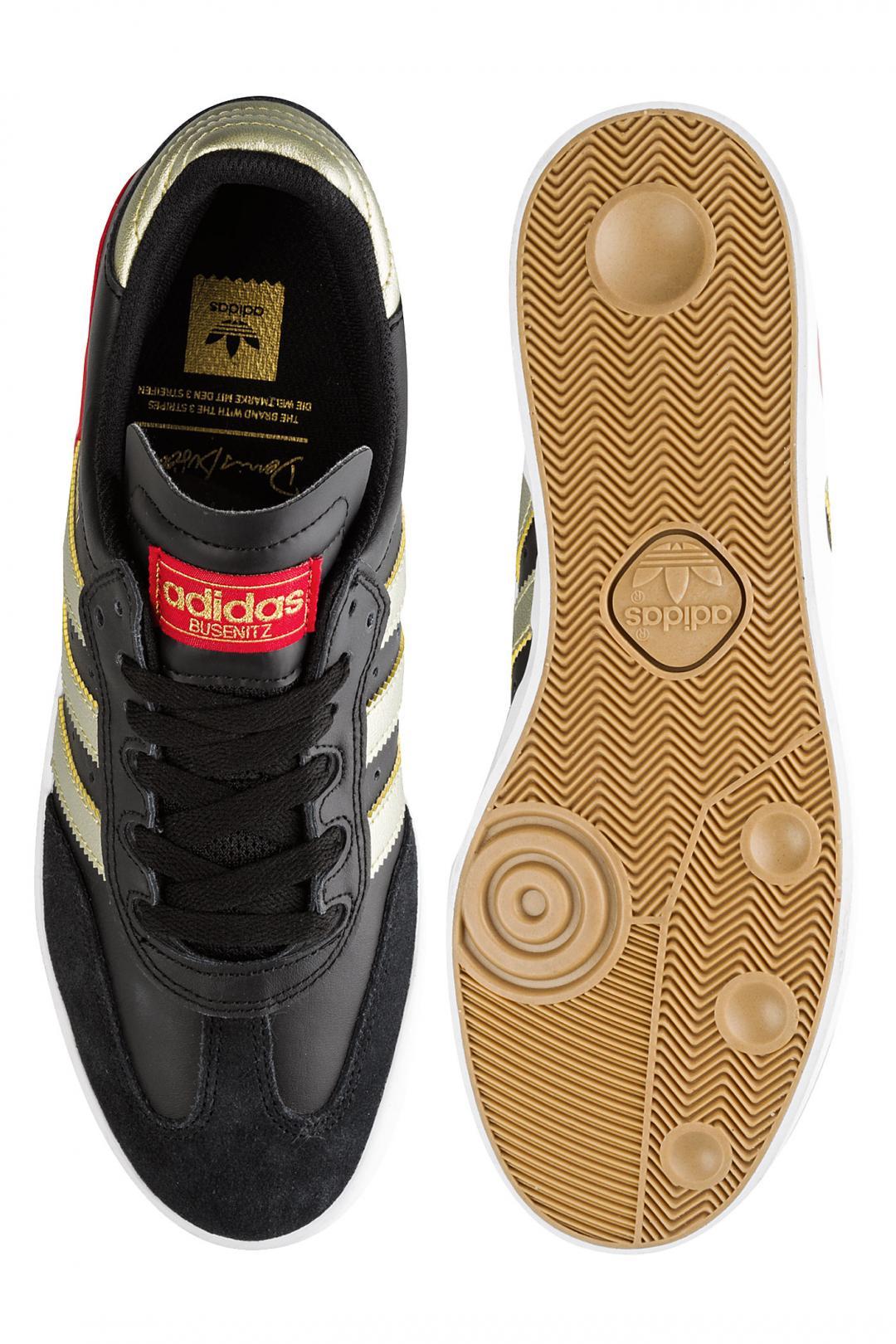 Uomo adidas Skateboarding Busenitz Vulc RX core black gold scarlet   Scarpe da skate