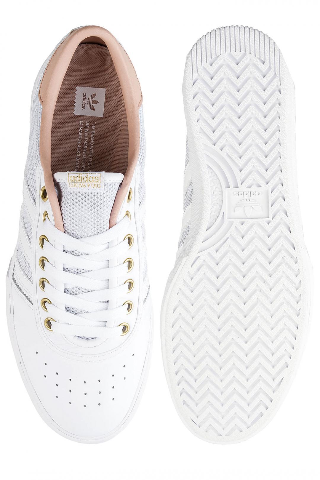 Uomo adidas Skateboarding Lucas Premiere white asphalt gold   Sneaker