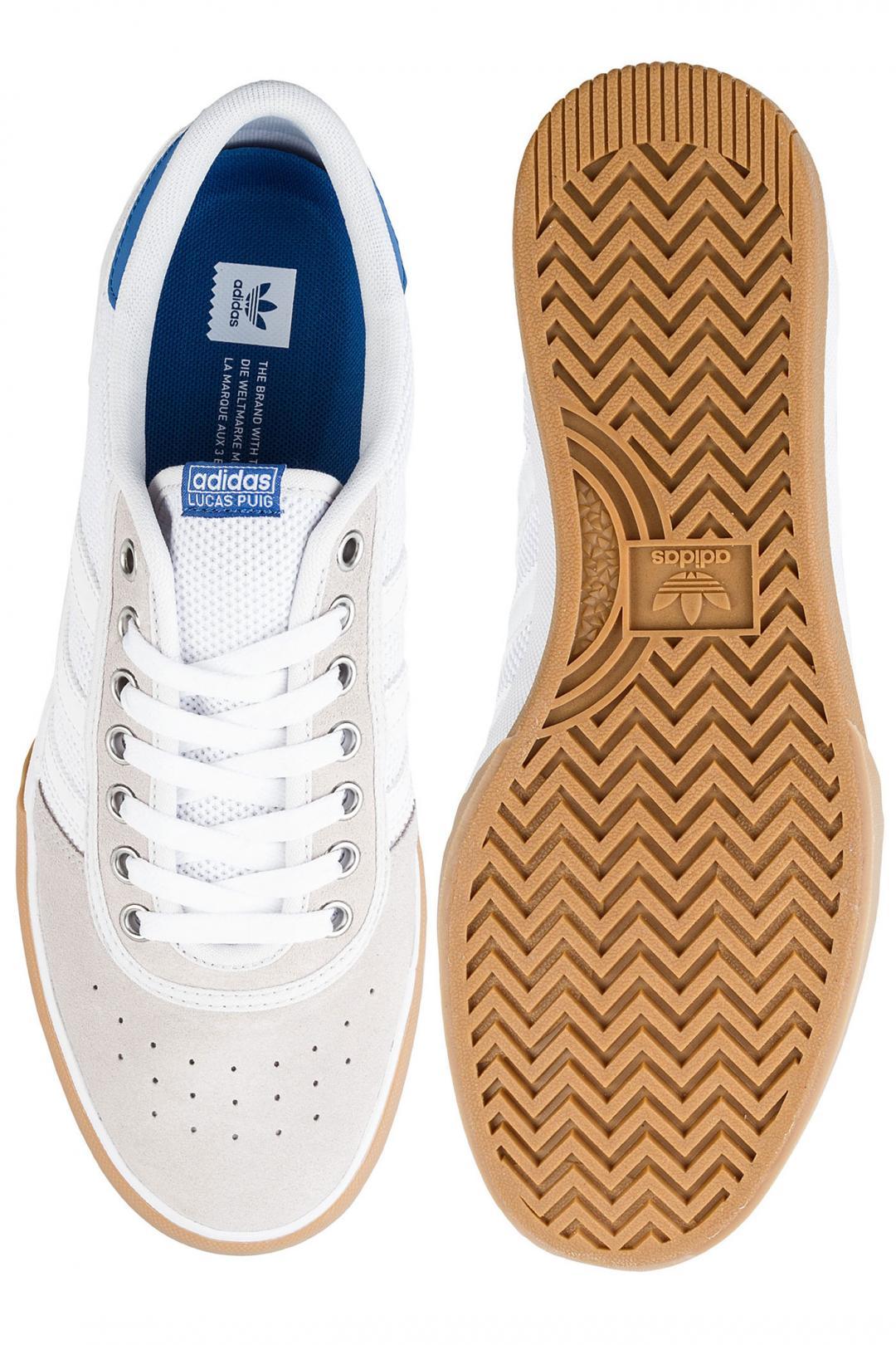 Uomo adidas Skateboarding Lucas Premiere white royal gum   Sneakers low top