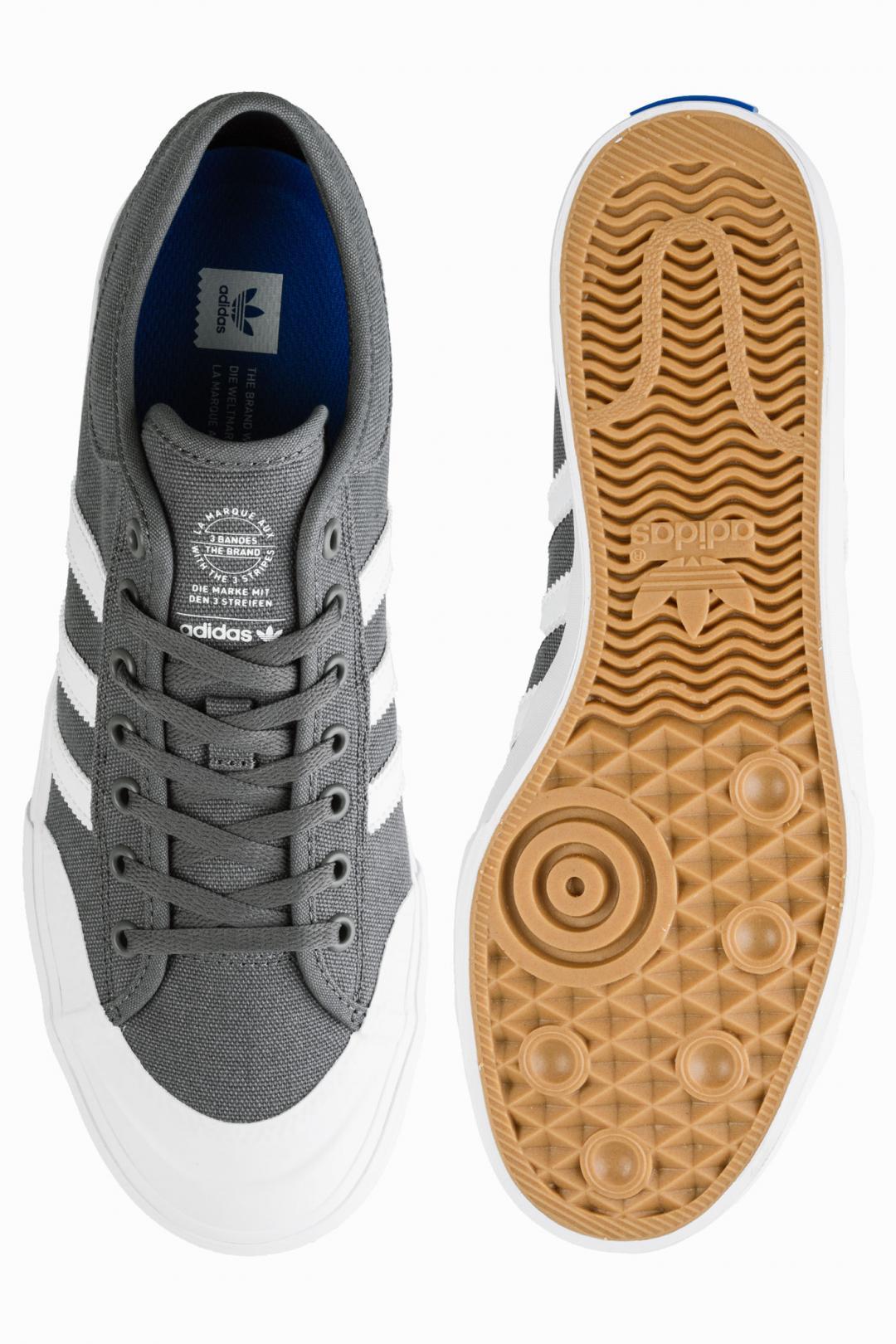 Uomo adidas Skateboarding Matchcourt grey four white gum   Sneaker