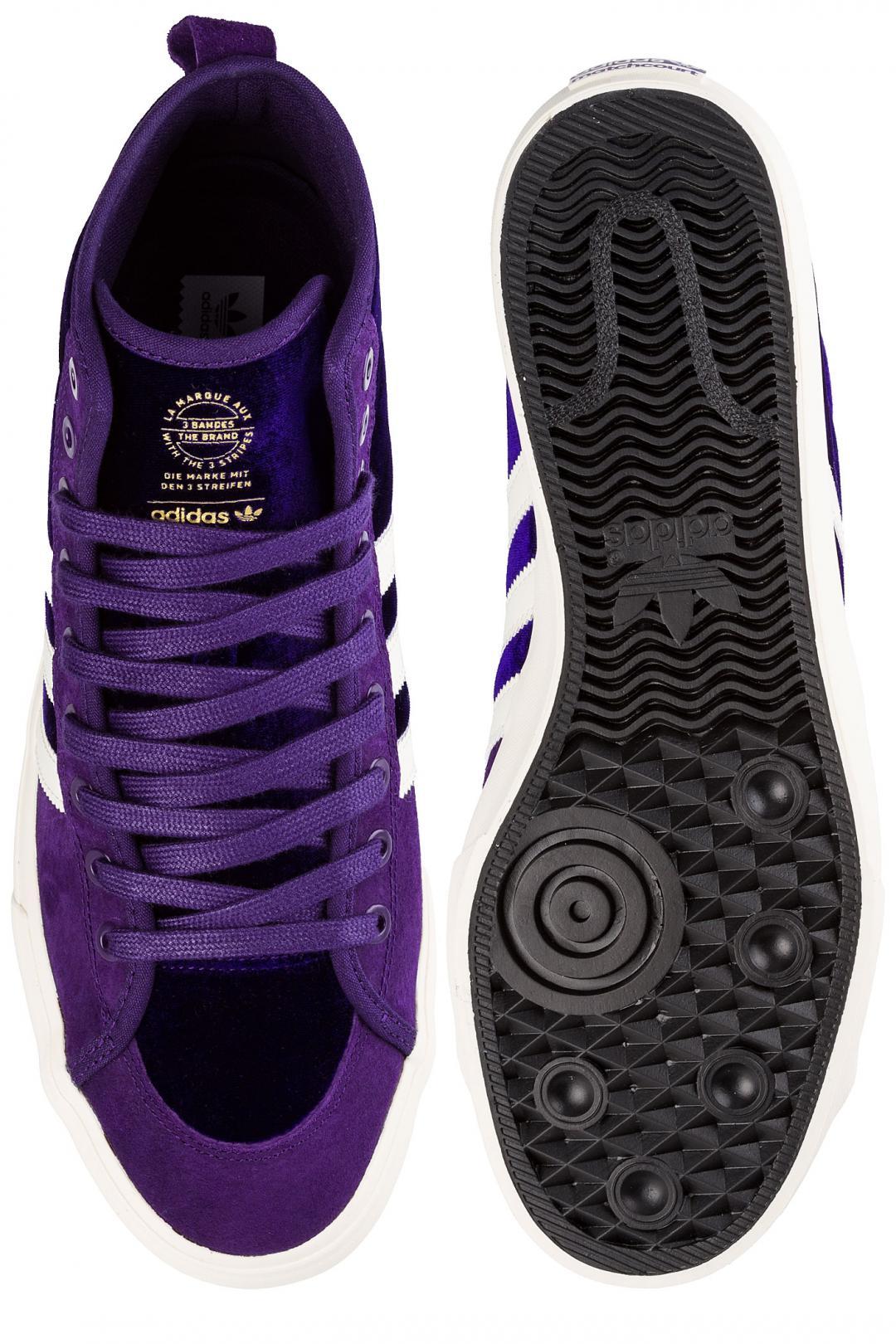 Uomo adidas Skateboarding Na-Kel Matchcourt High RX purple white gold   Scarpe da skate