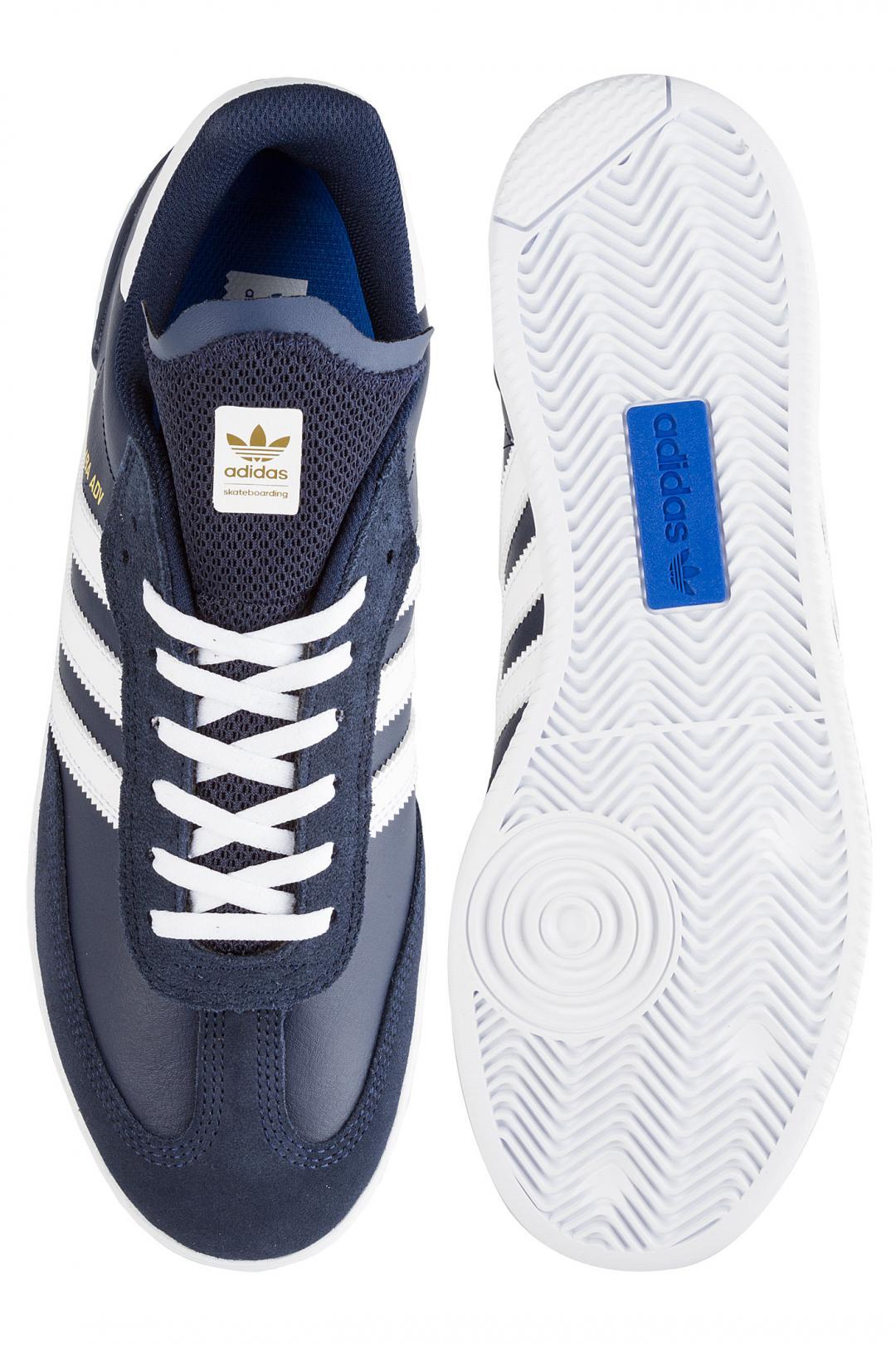 Uomo adidas Skateboarding Samba ADV collegiate navy white | Sneakers low top