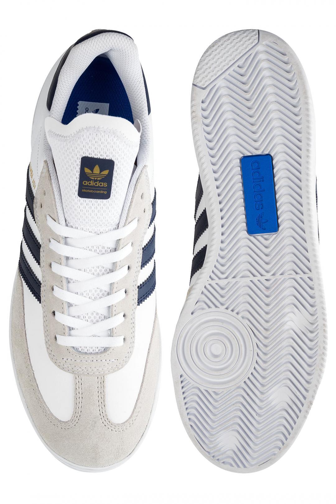 Uomo adidas Skateboarding Samba ADV white navy gold   Sneaker