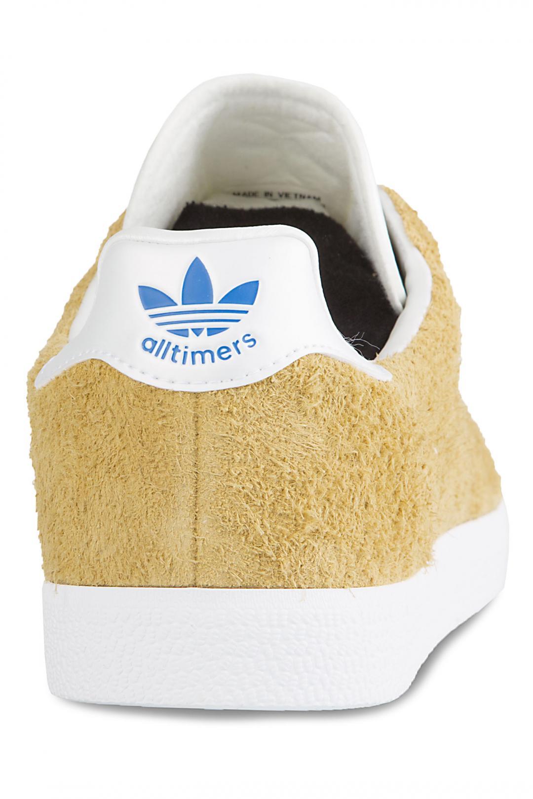Uomo adidas Skateboarding x Alltimers Gazelle Super mesa chalk white blue | Sneaker