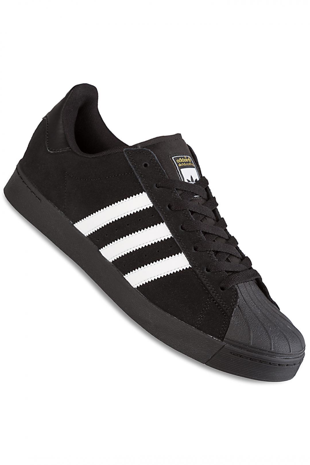 Uomo adidas Superstar Vulc ADV black white black | Scarpe da skate