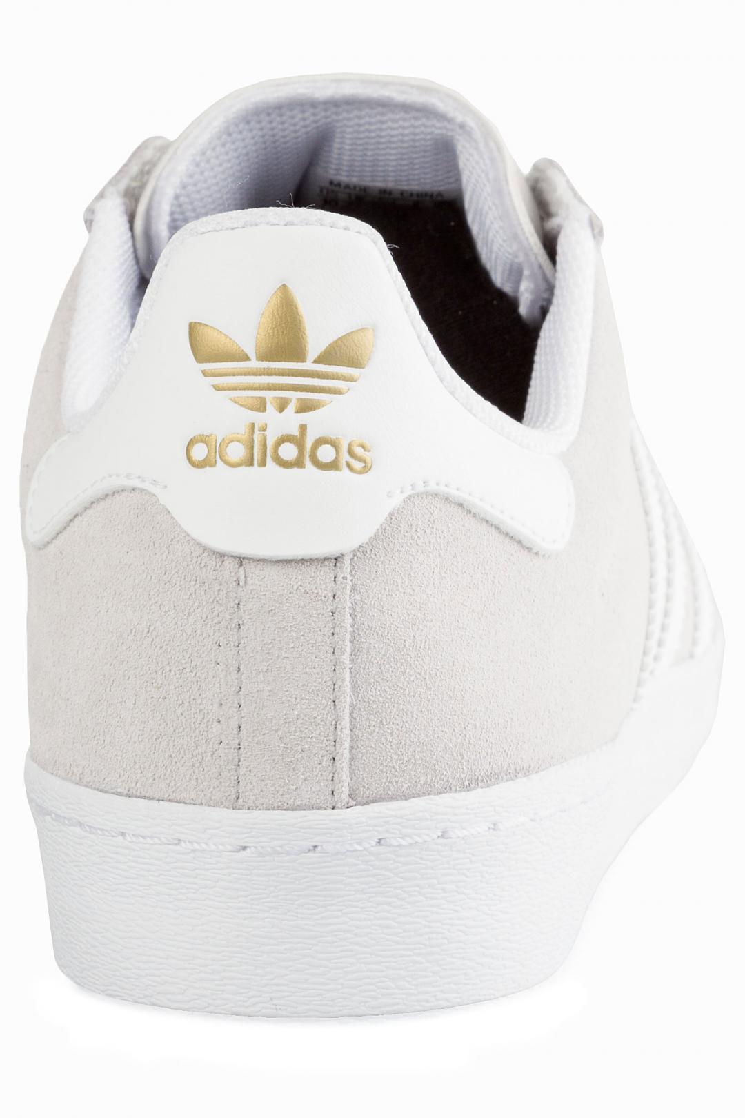 Uomo adidas Superstar Vulc ADV grey one white gold   Scarpe da skate
