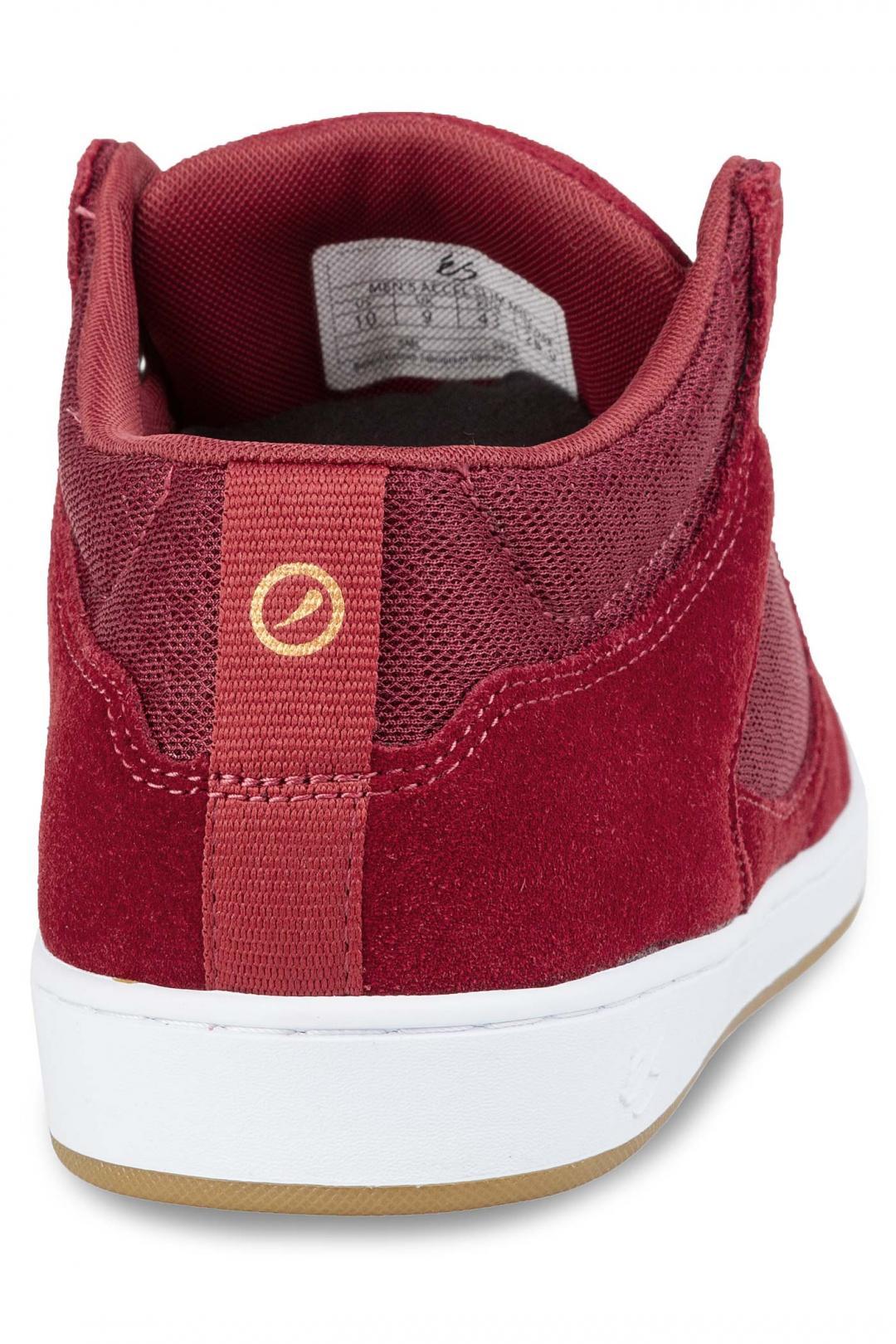 Uomo éS Accel Slim Mid burgundy   Sneaker