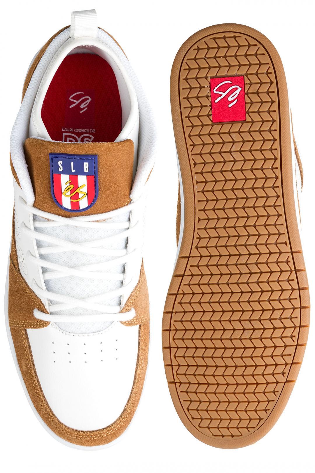 Uomo éS SLB Mid white tan   Sneaker