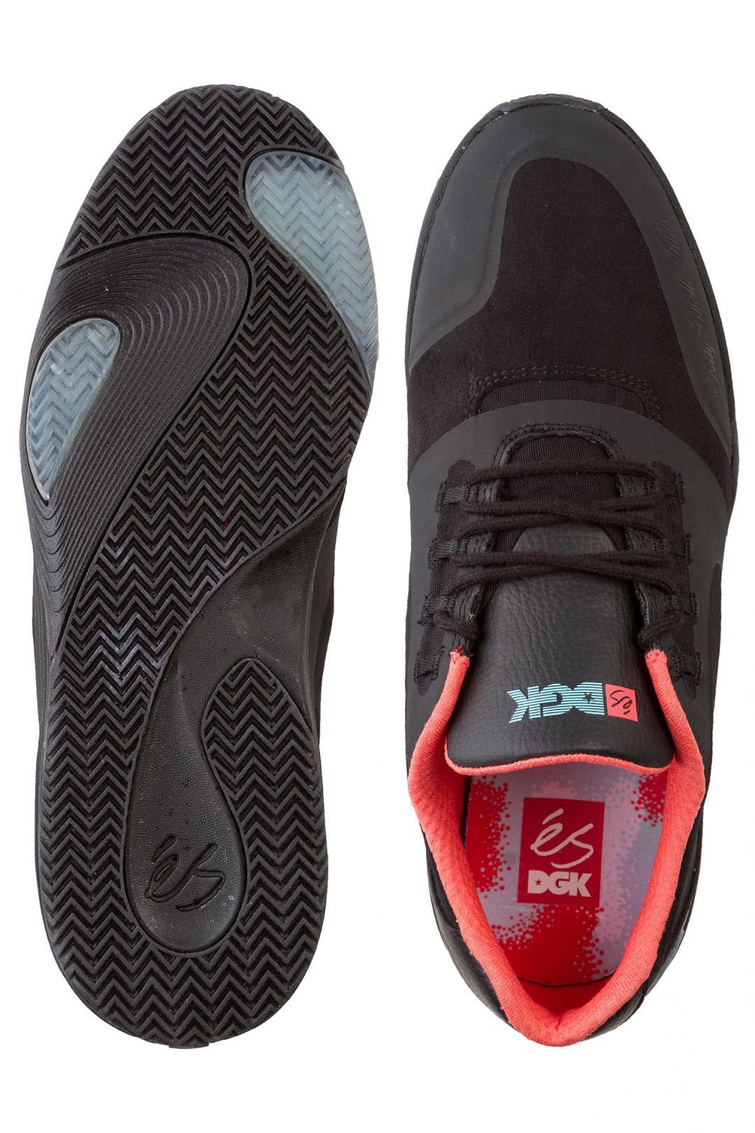 Uomo éS x DGK Skateboards Sesla black black blue   Sneaker