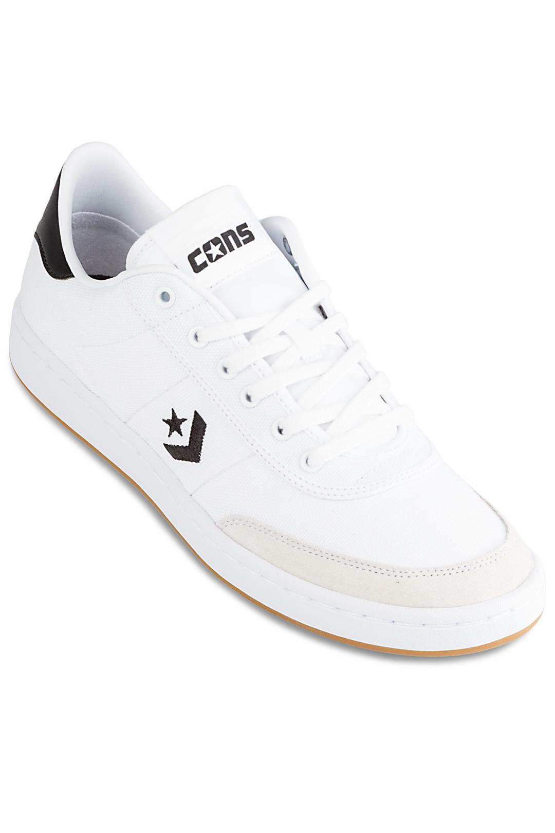 Uomo Converse Barcelona Pro white black white   Scarpe da skate
