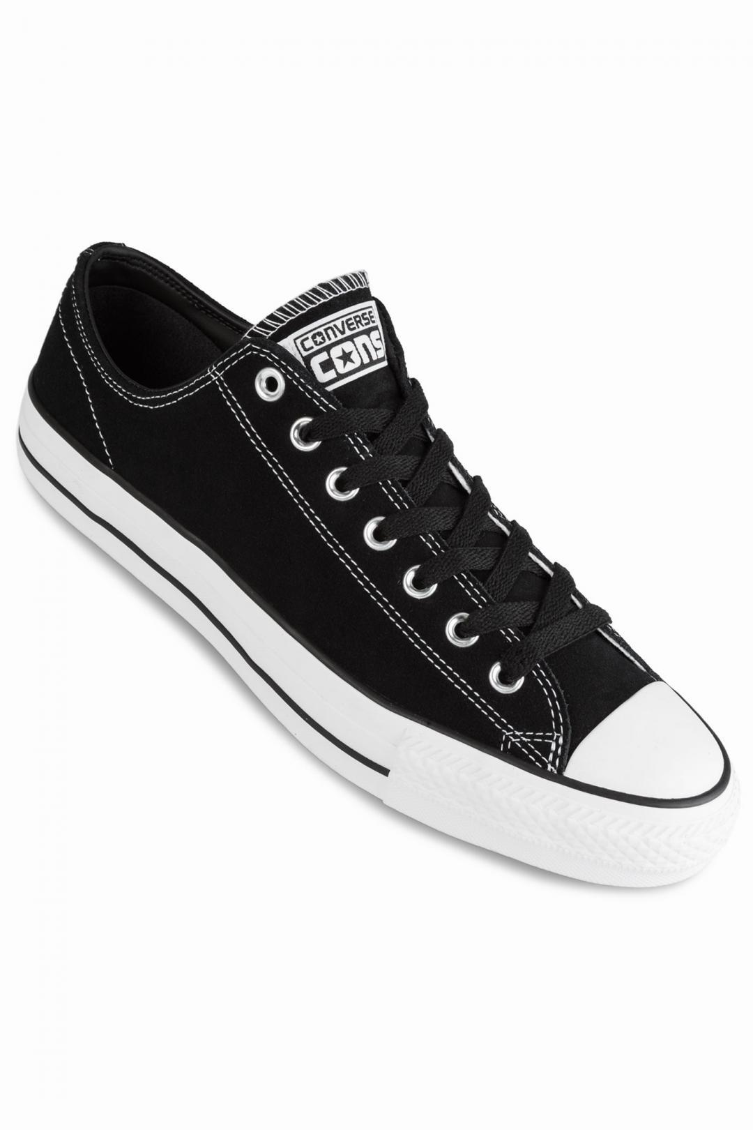 Uomo Converse CONS Chuck Taylor All Star Pro Ox black black white   Sneaker