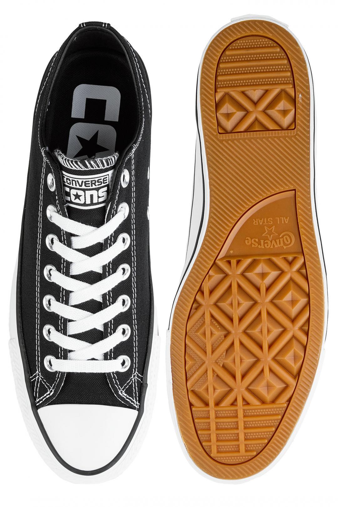 Uomo Converse CONS Chuck Taylor All Star Pro Ox black black white white | Sneaker