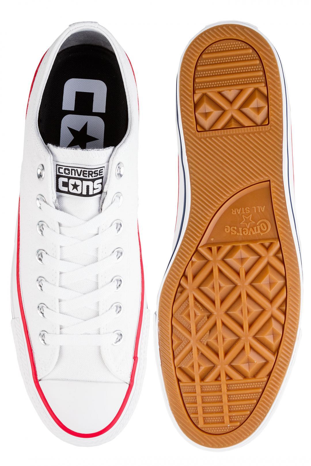 Uomo Converse CONS Chuck Taylor All Star Pro Ox white red insignia blue   Sneaker
