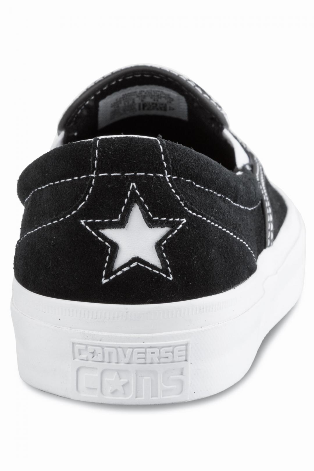 Uomo Converse CONS One Star CC Slip black white black   Sneakers slip on
