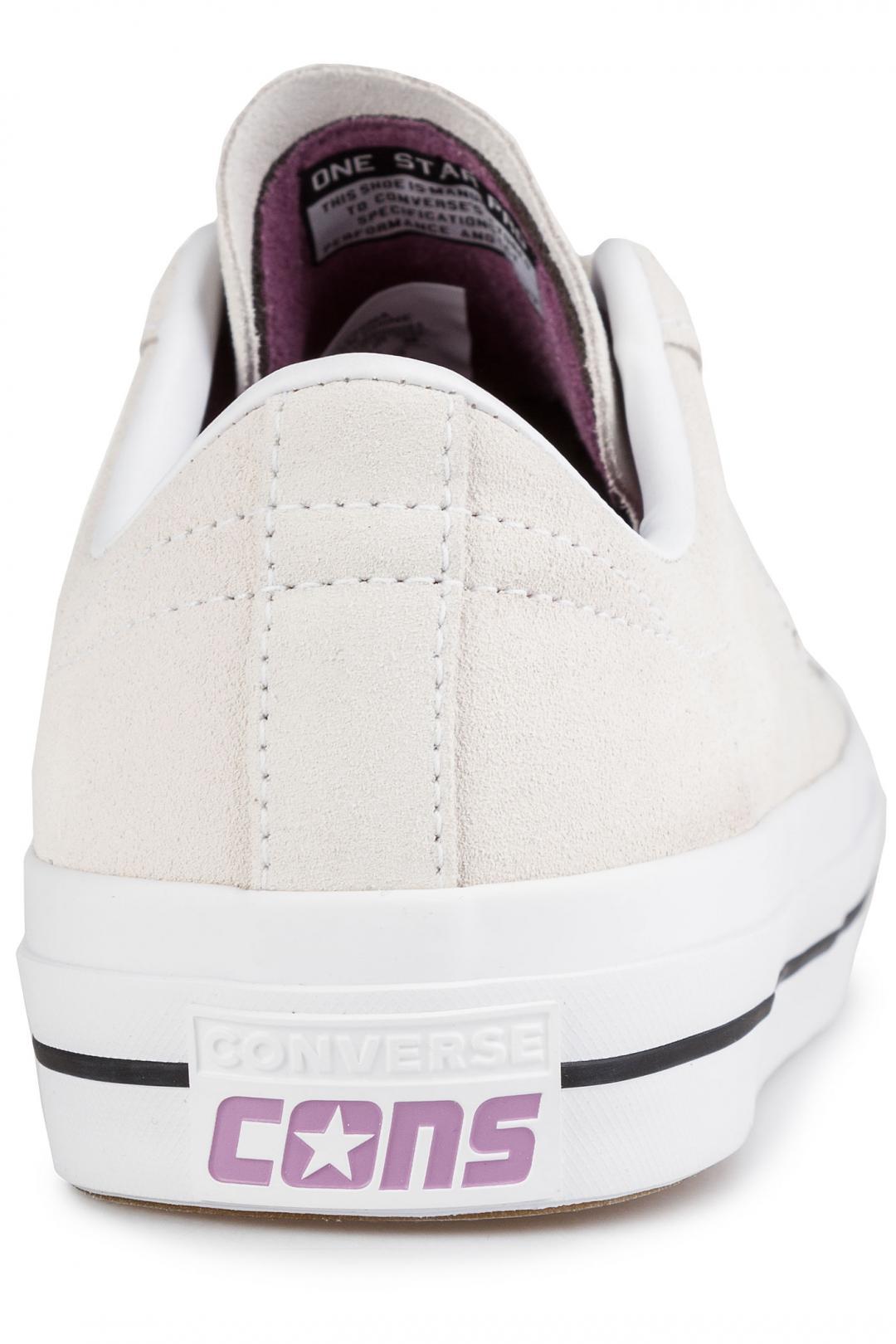Uomo Converse One Star Pro egret violet dust white   Scarpe da skate