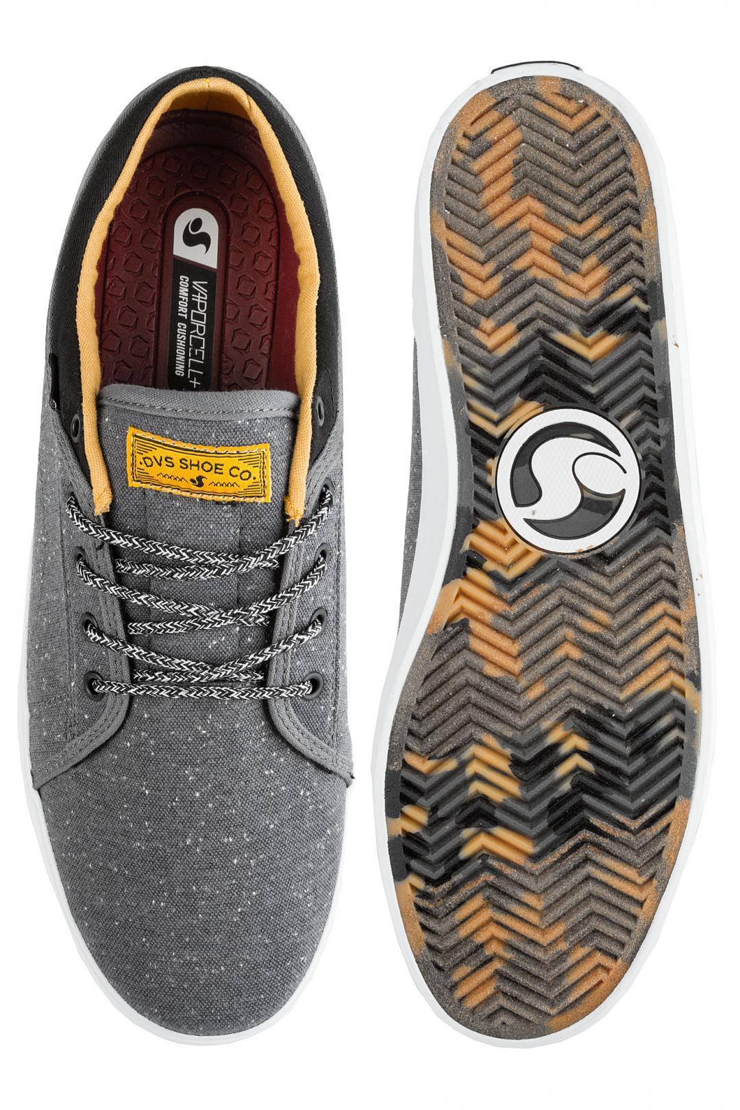 Uomo DVS Aversa+ charcoal black white heathered | Sneaker