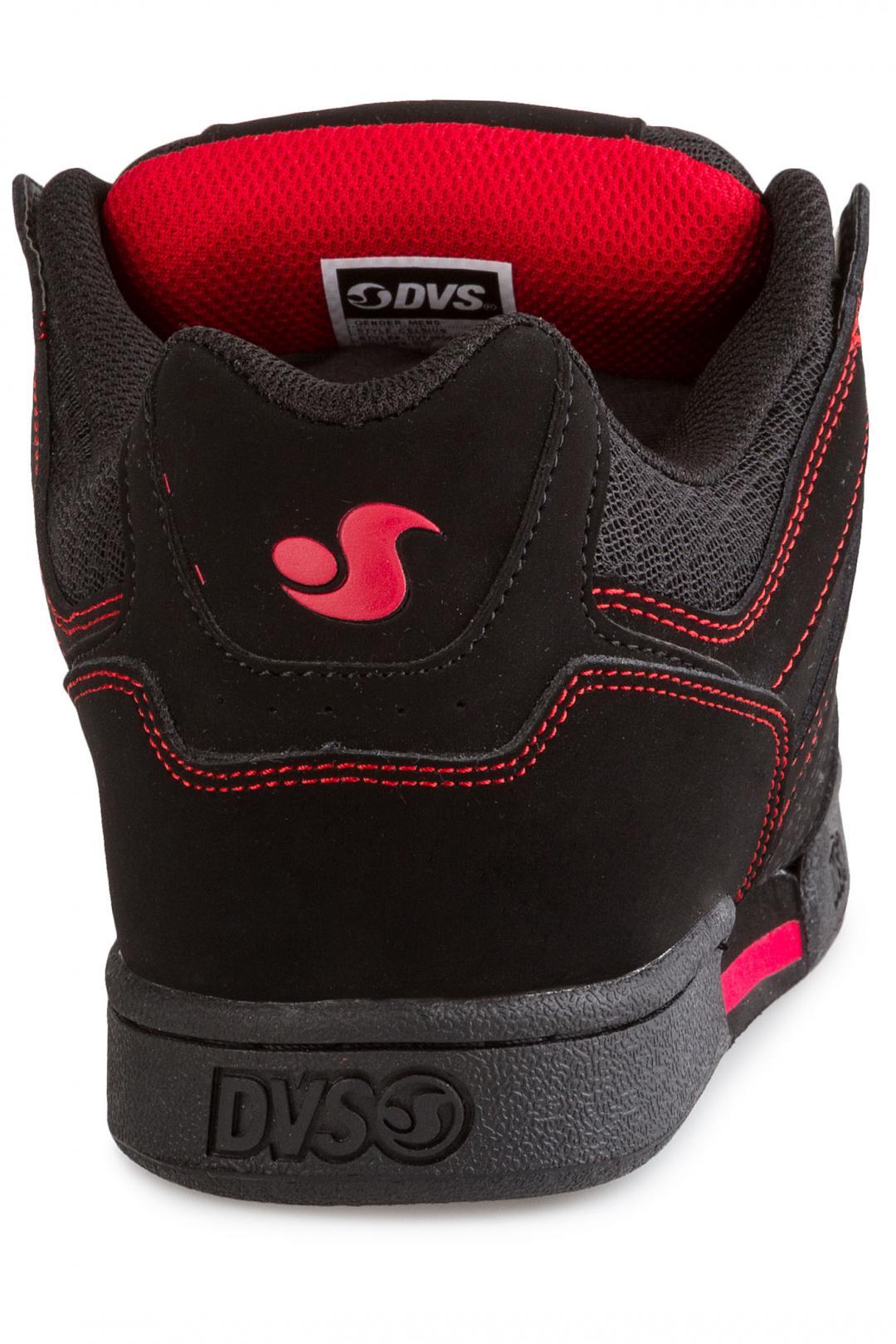 Uomo DVS Celsius Nubuck black black red | Scarpe da skate